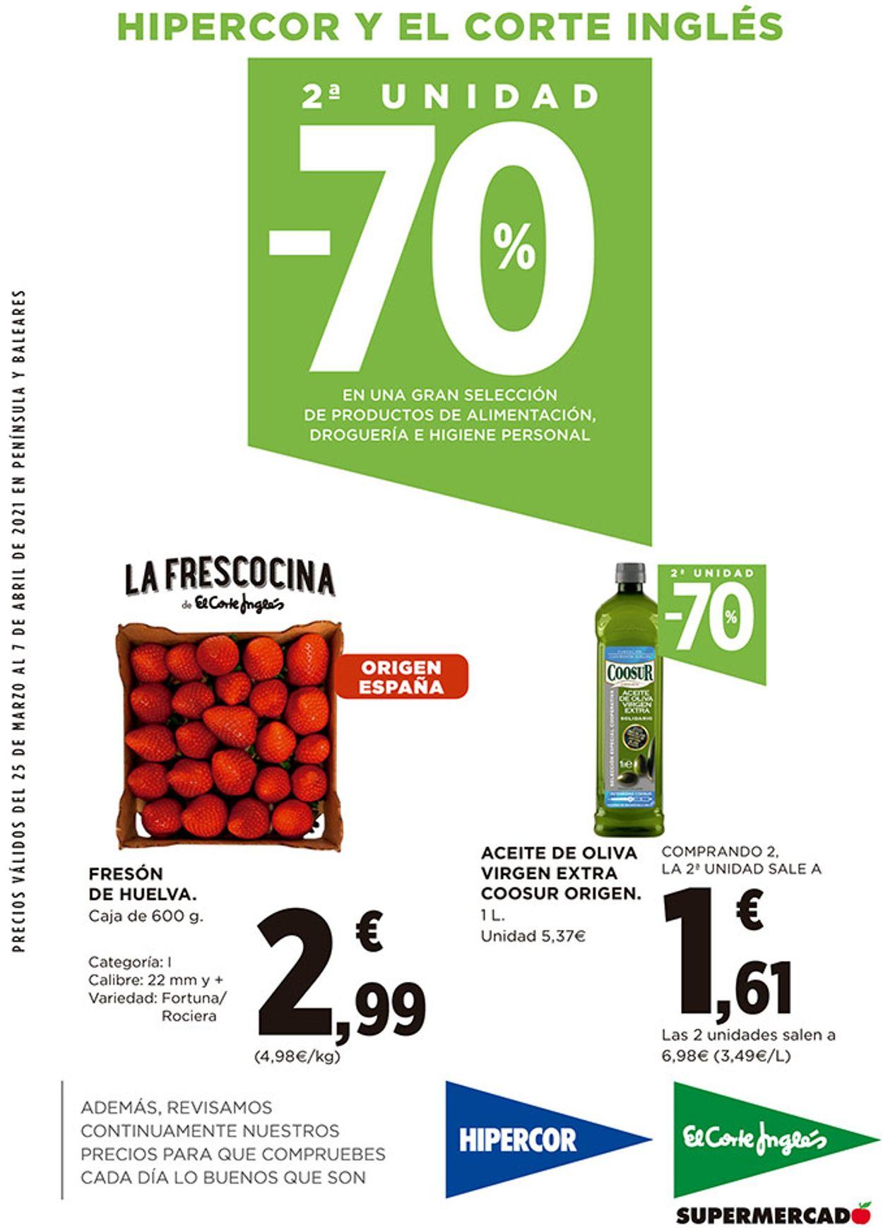 Hipercor Folleto - 25.03-07.04.2021
