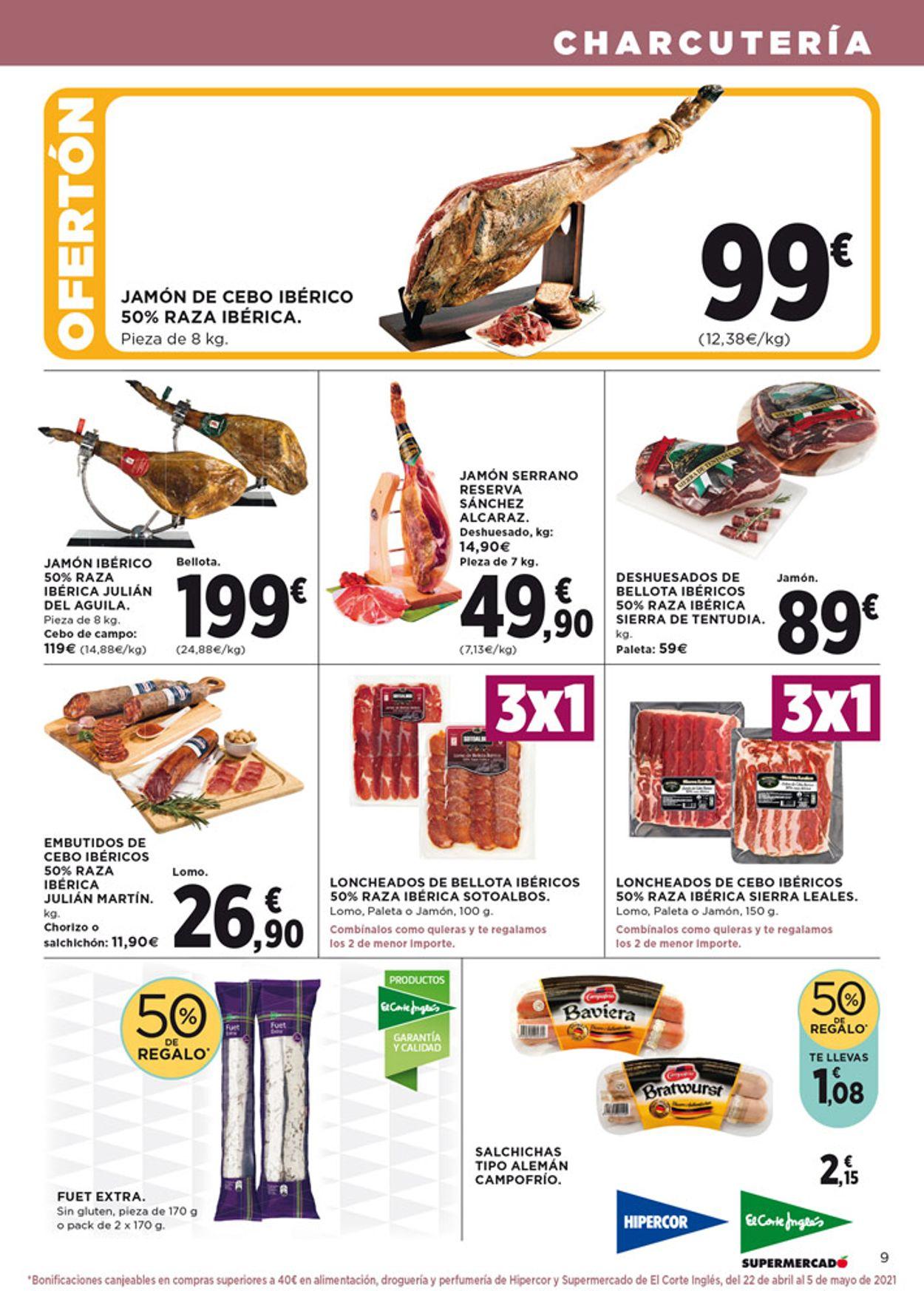 Hipercor Folleto - 08.04-21.04.2021 (Página 9)