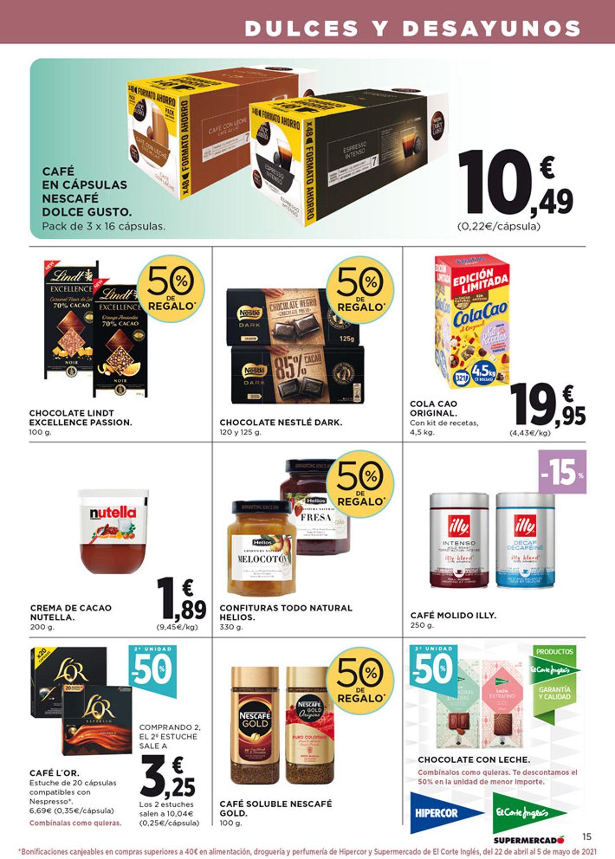Hipercor Folleto - 08.04-21.04.2021 (Página 15)