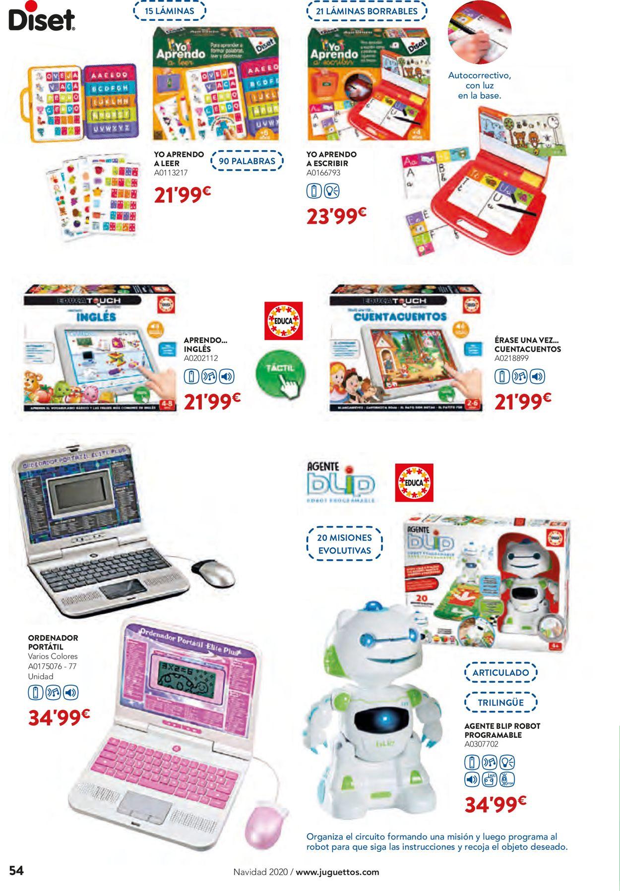 Juguettos Folleto - 02.11-24.12.2020 (Página 54)