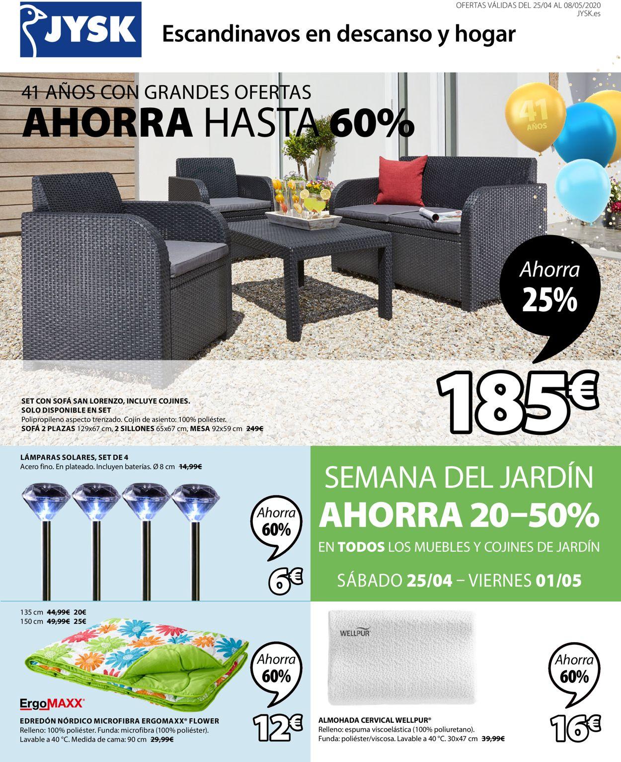 JYSK Folleto - 25.04-08.05.2020