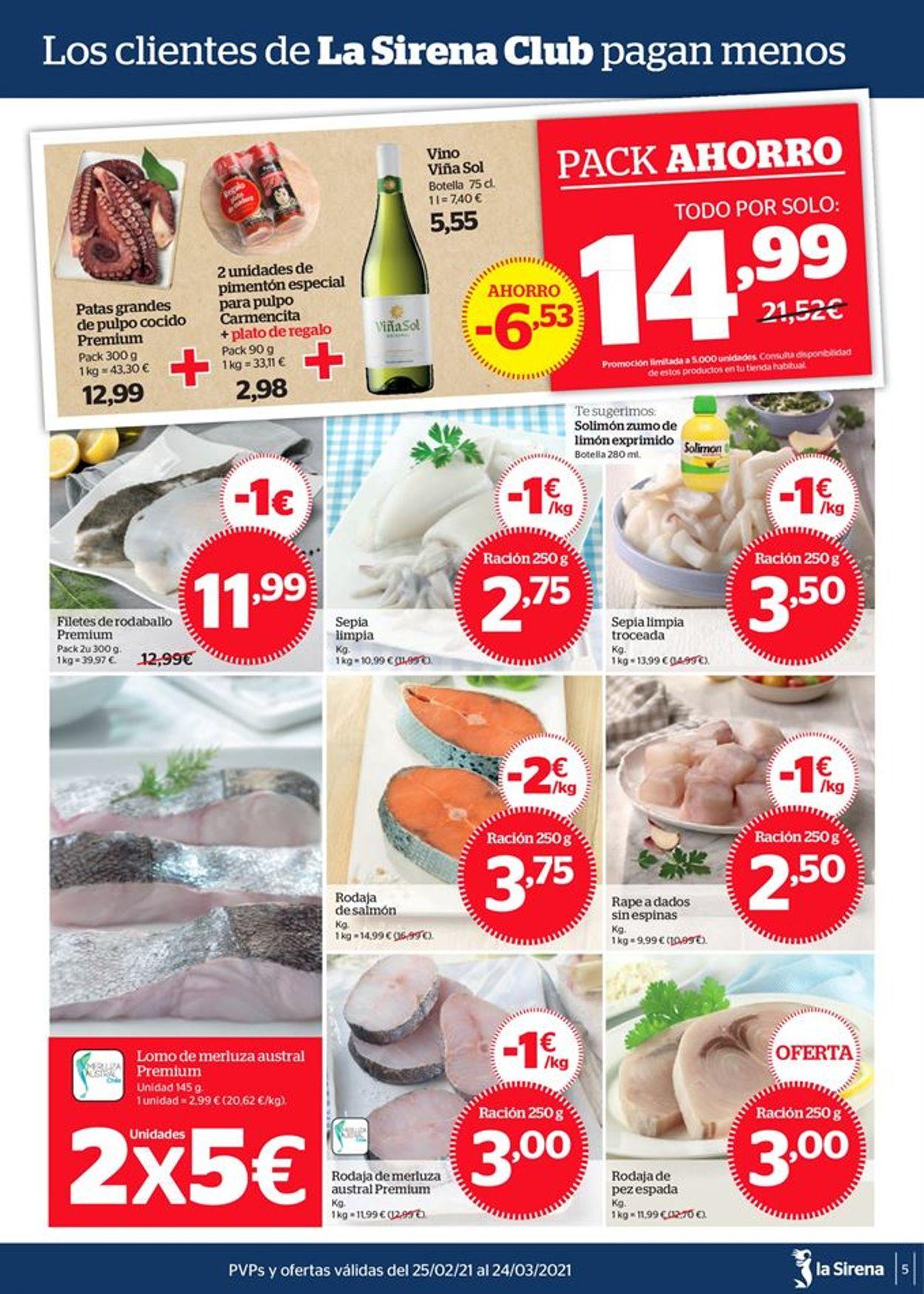 La Sirena Especial bacalao Folleto - 25.02-24.03.2021 (Página 5)