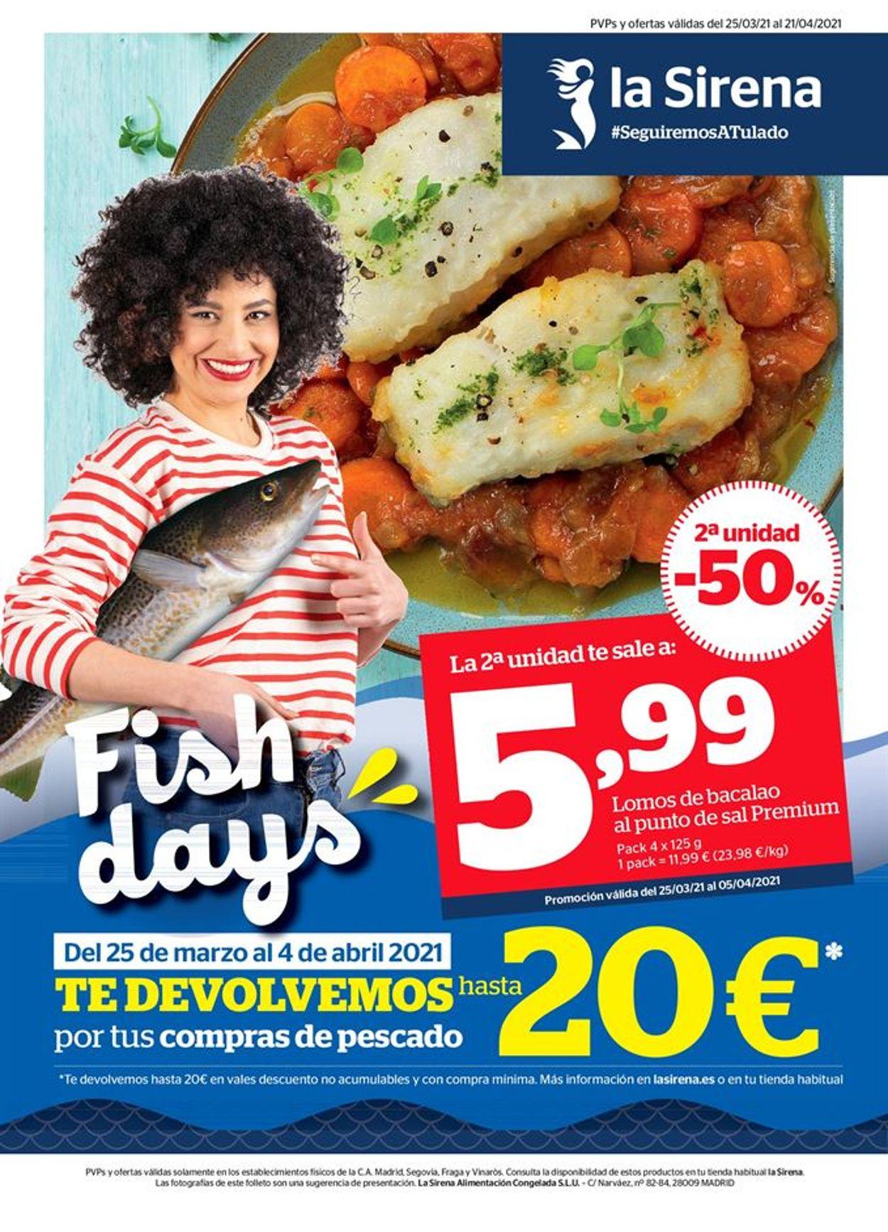 La Sirena Fish days Folleto - 25.03-21.04.2021