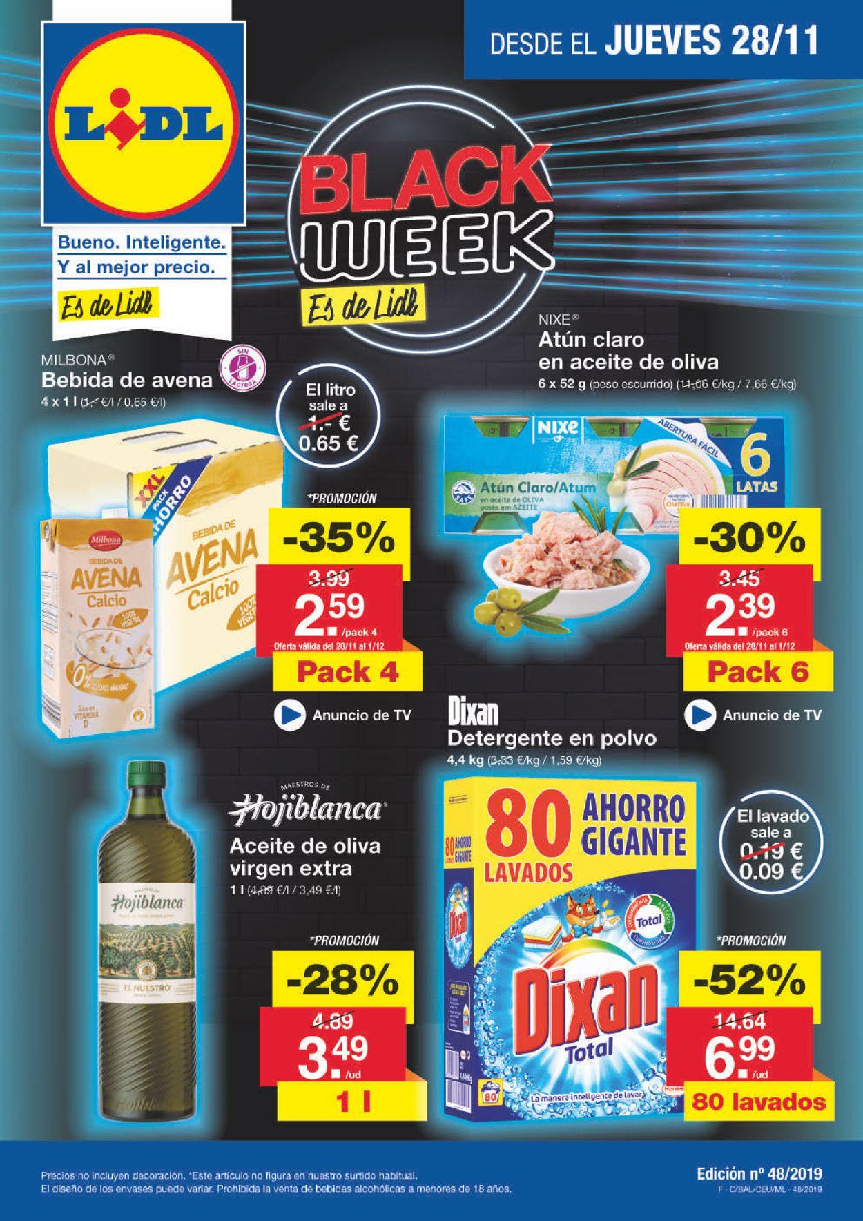 Lidl - Black Week Folleto 2019 Folleto - 28.11-04.12.2019