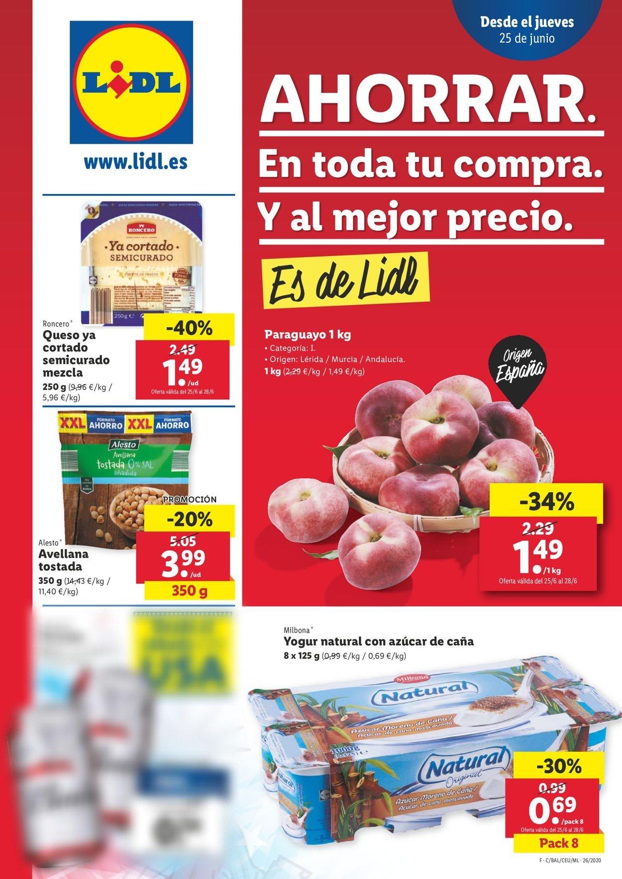 Lidl Folleto - 25.06-01.07.2020