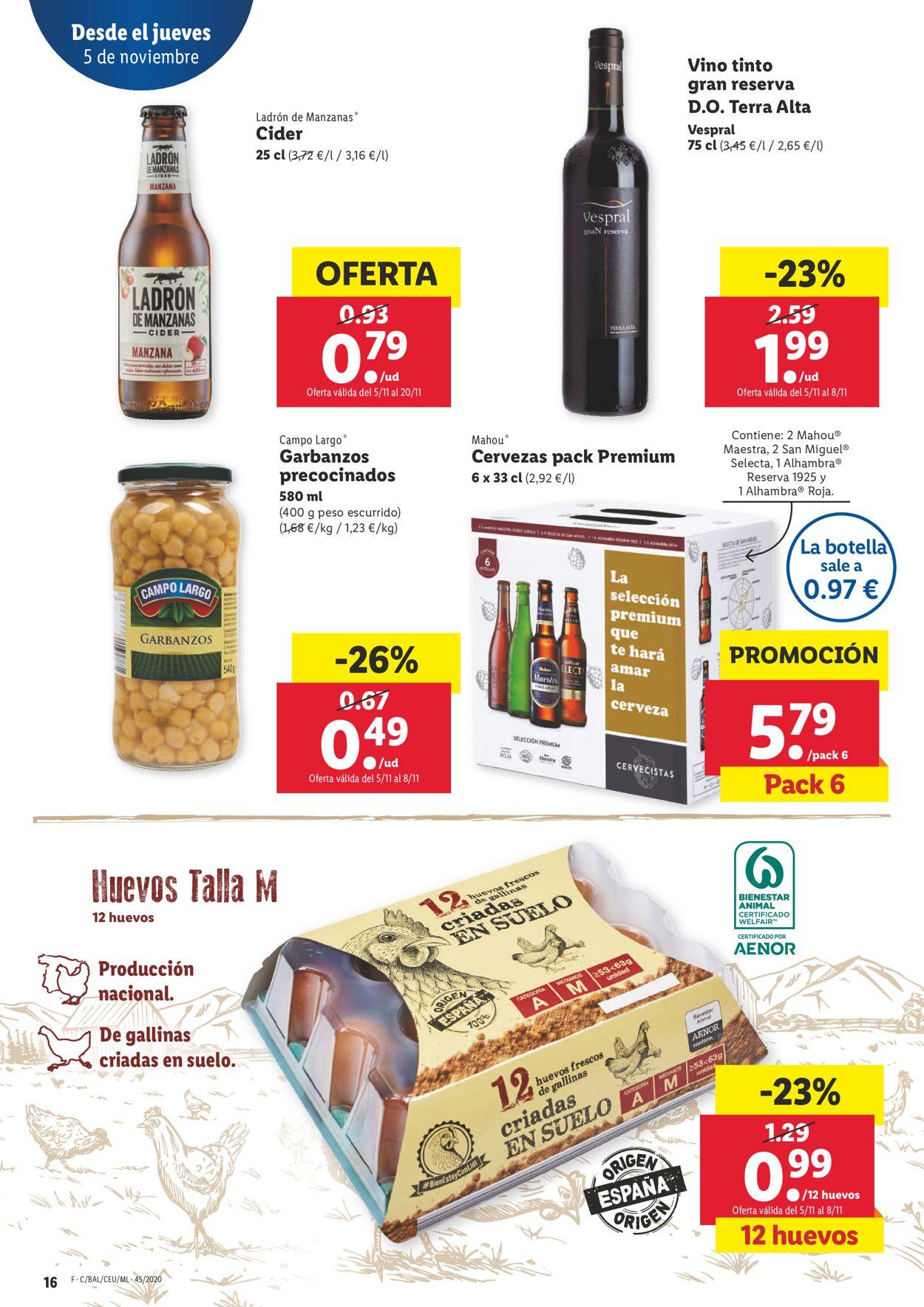 Lidl Folleto - 05.11-11.11.2020 (Página 16)