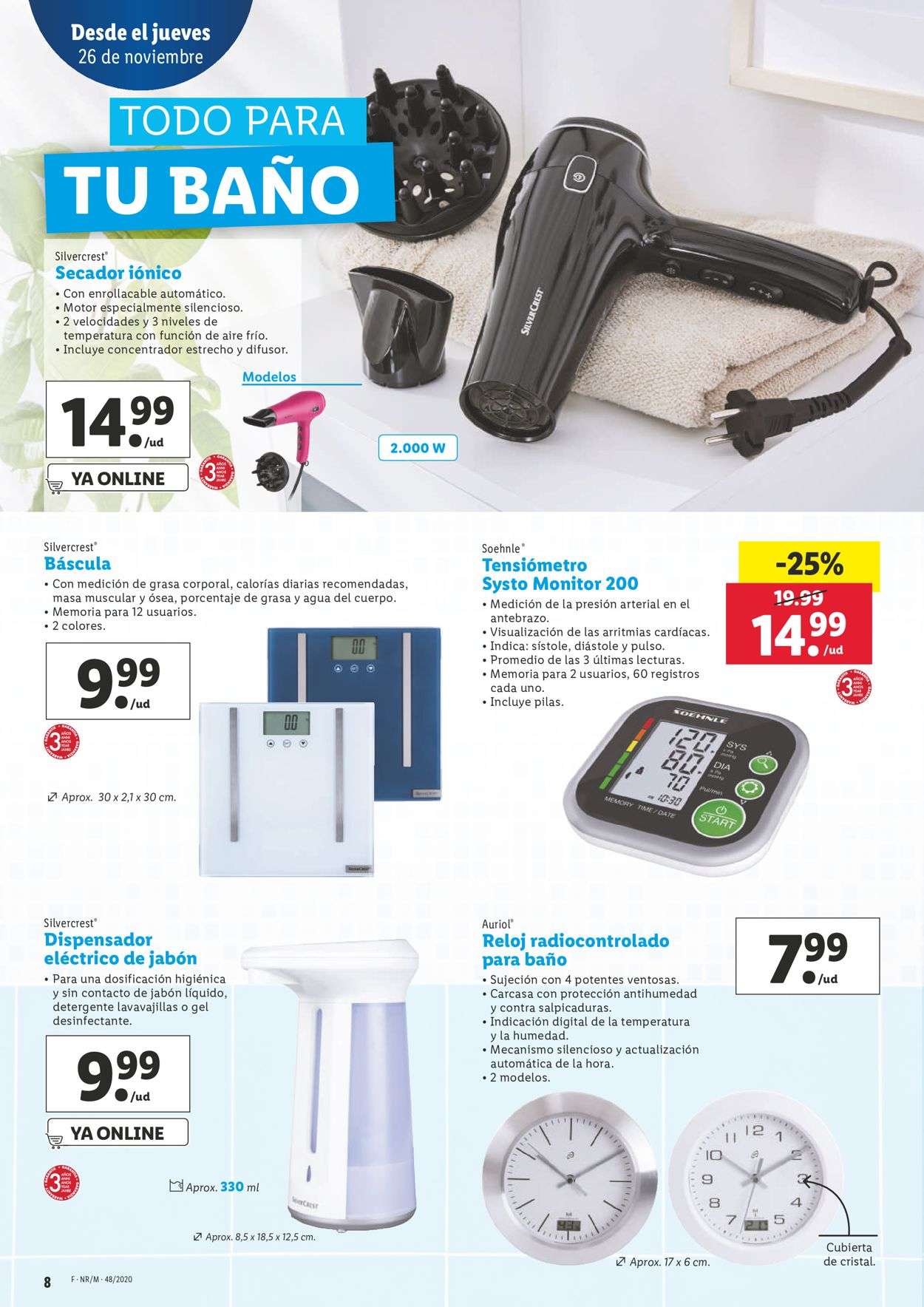 Lidl - Black Week 2020 Folleto - 26.11-02.12.2020 (Página 8)
