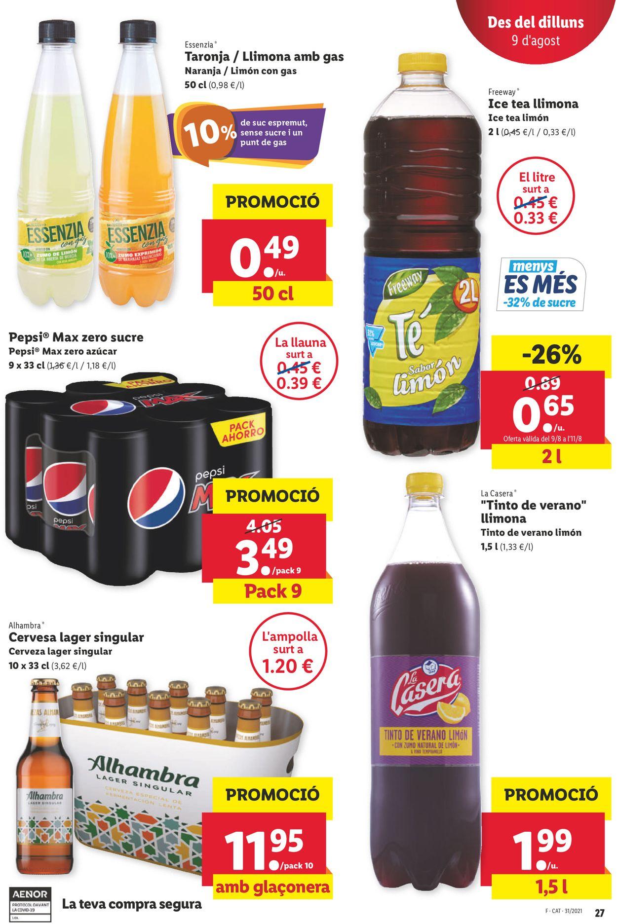 Lidl Folleto - 05.08-11.08.2021 (Página 27)