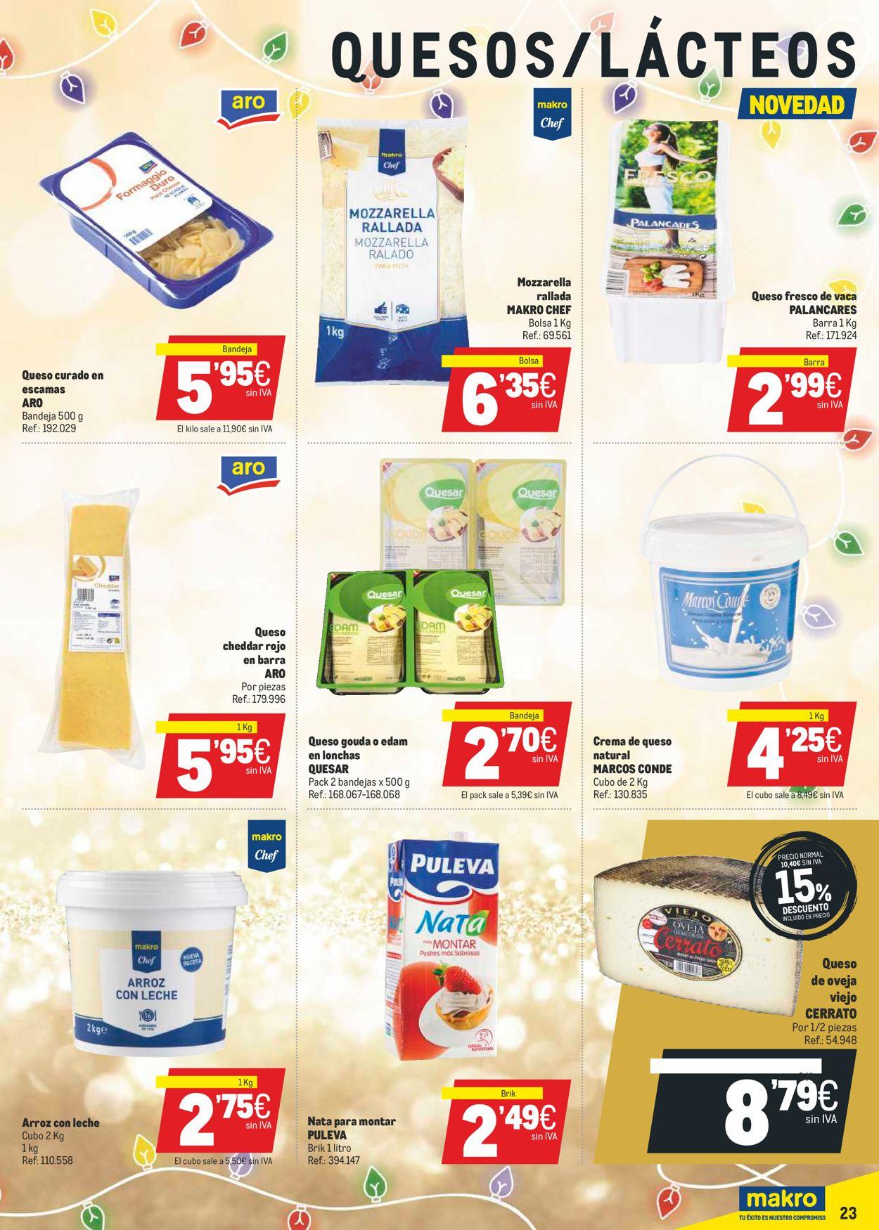 Makro La Navidad Mas Gastro 2020 Folleto - 17.12-05.01.2021 (Página 23)