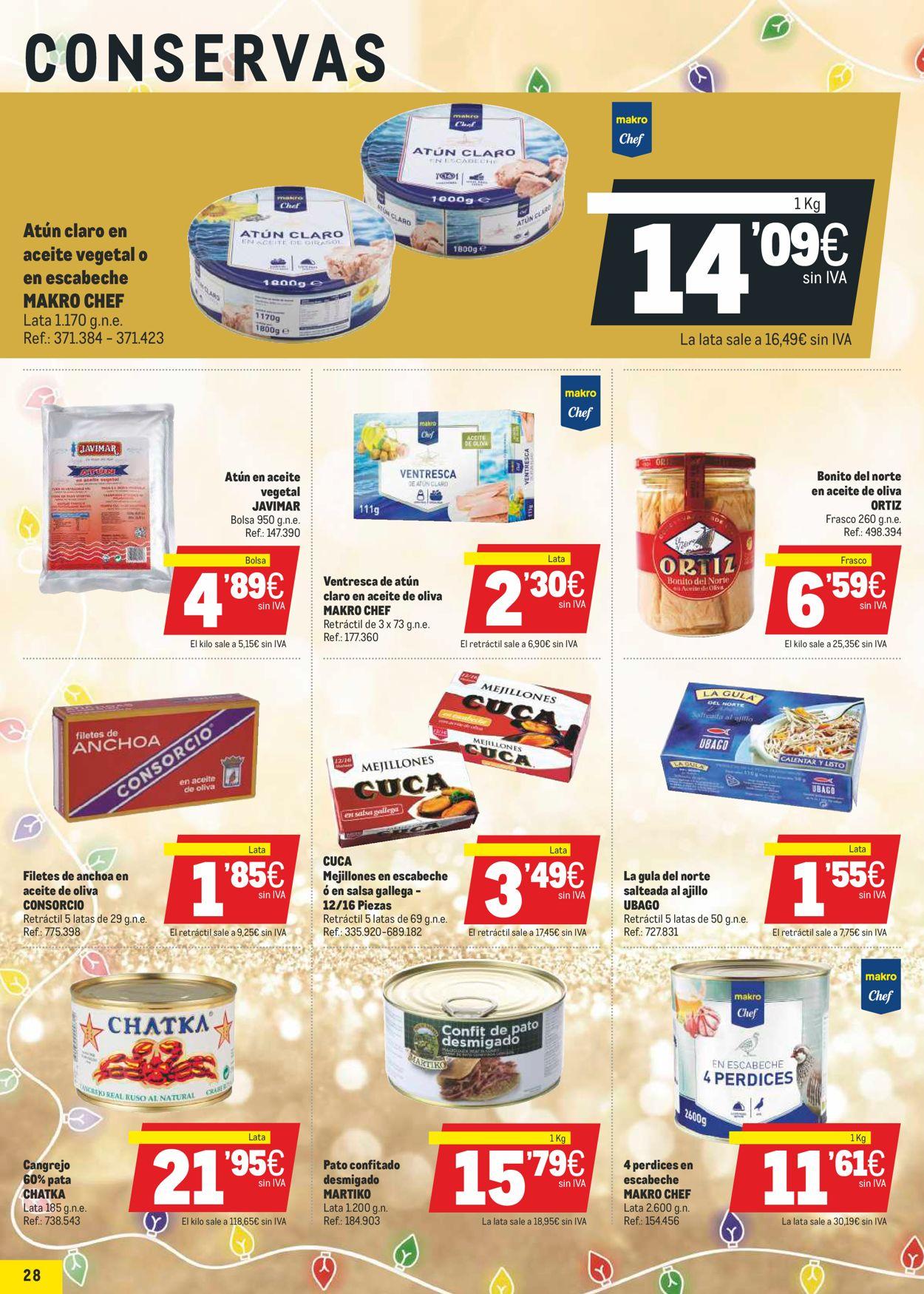 Makro La Navidad Mas Gastro 2020 Folleto - 17.12-05.01.2021 (Página 28)