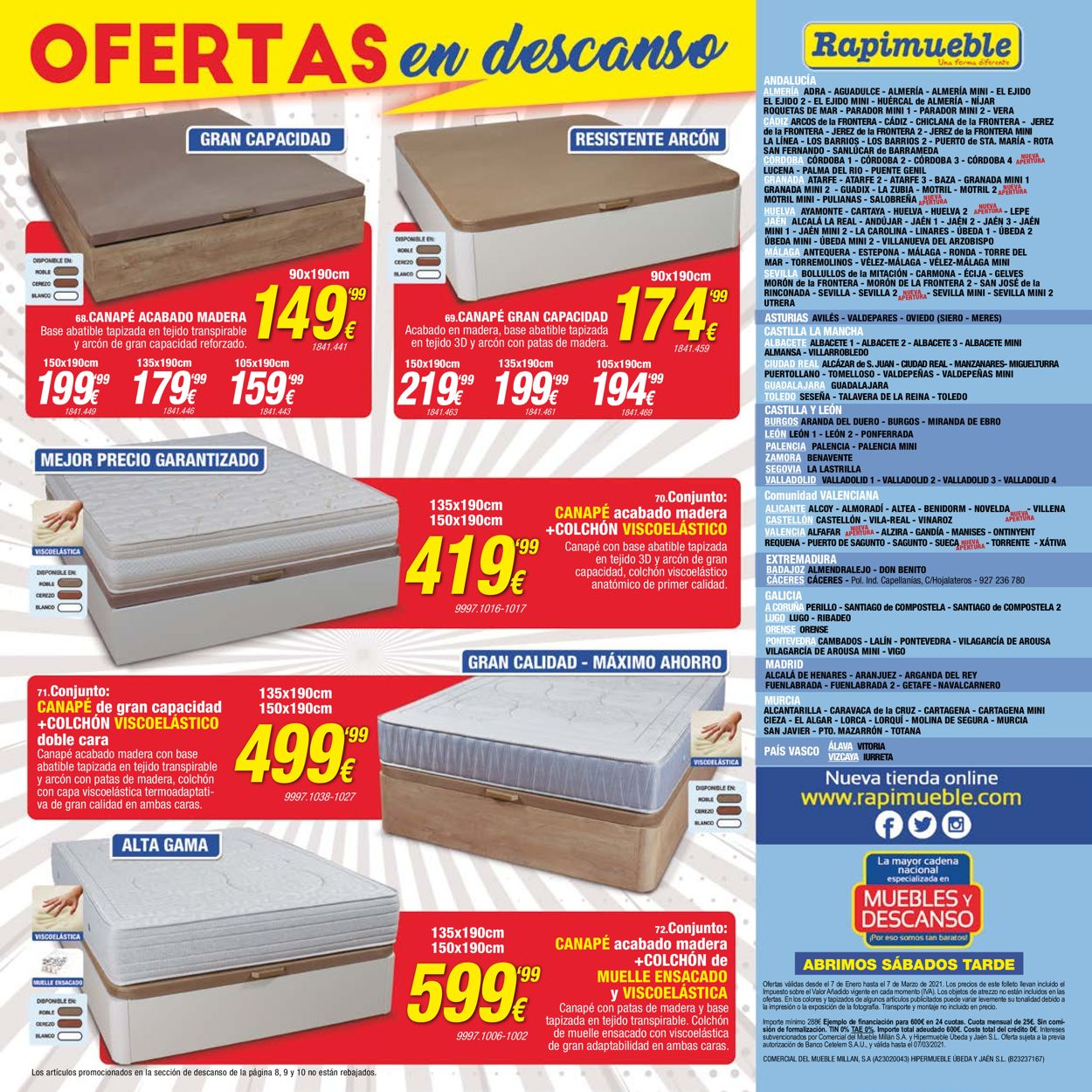 Rapimueble Folleto - 07.01-07.03.2021 (Página 10)