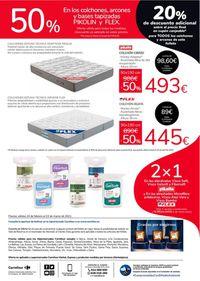 Carrefour 50% de descuento en Pikolin y Flex