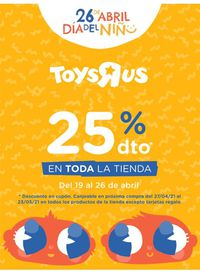 ToysRUs 25% En TODA la tienda
