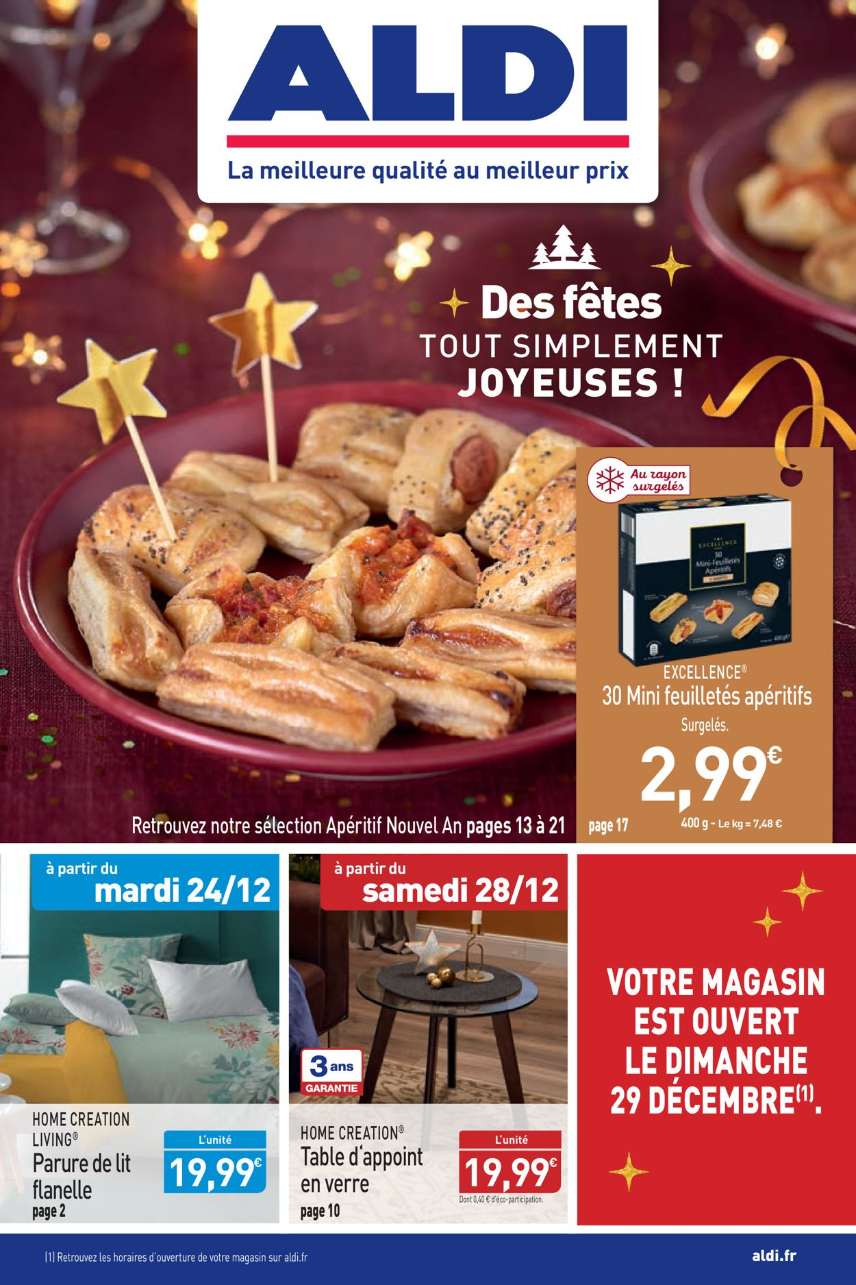 Aldi - Catalogue du Nouvel An Catalogue - 23.12-29.12.2019