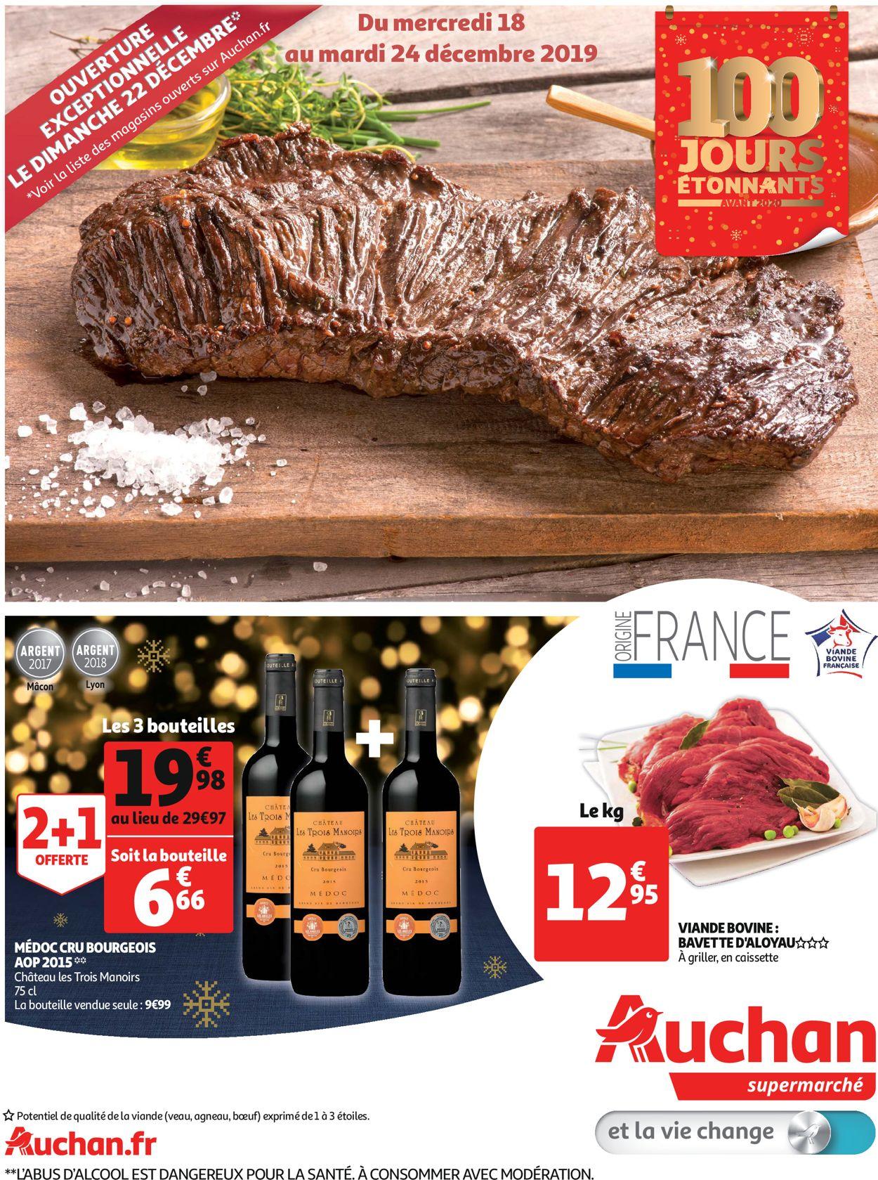 Auchan catalogue de Noël 2019 Catalogue - 18.12-24.12.2019