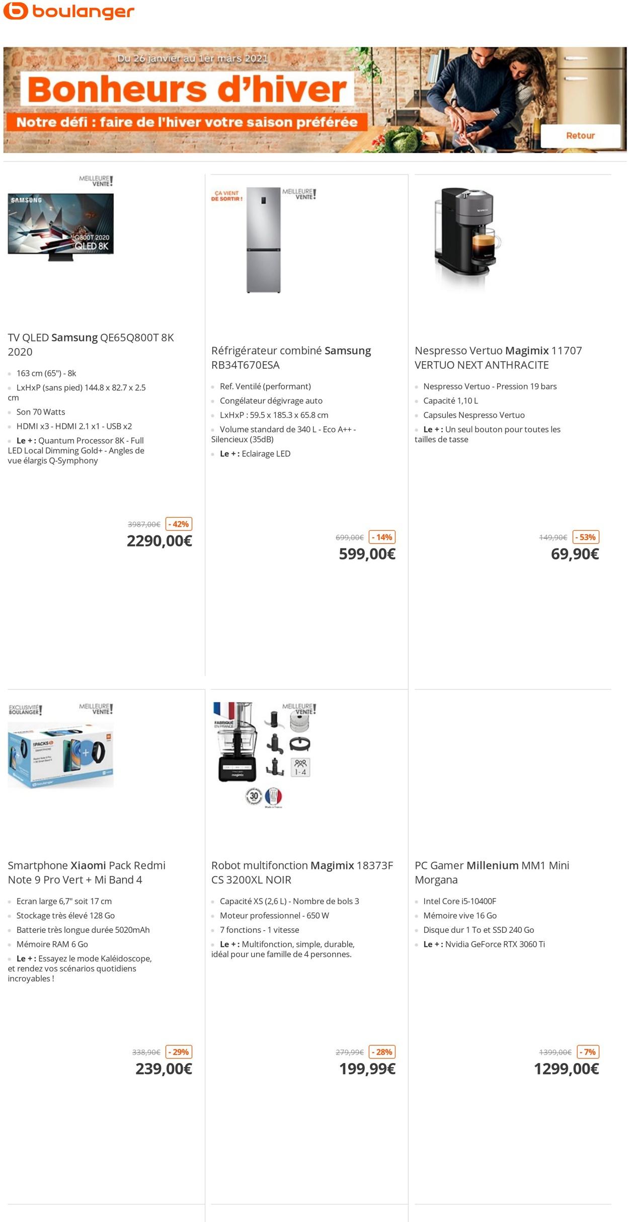 Boulanger Catalogue - 26.01-01.03.2021
