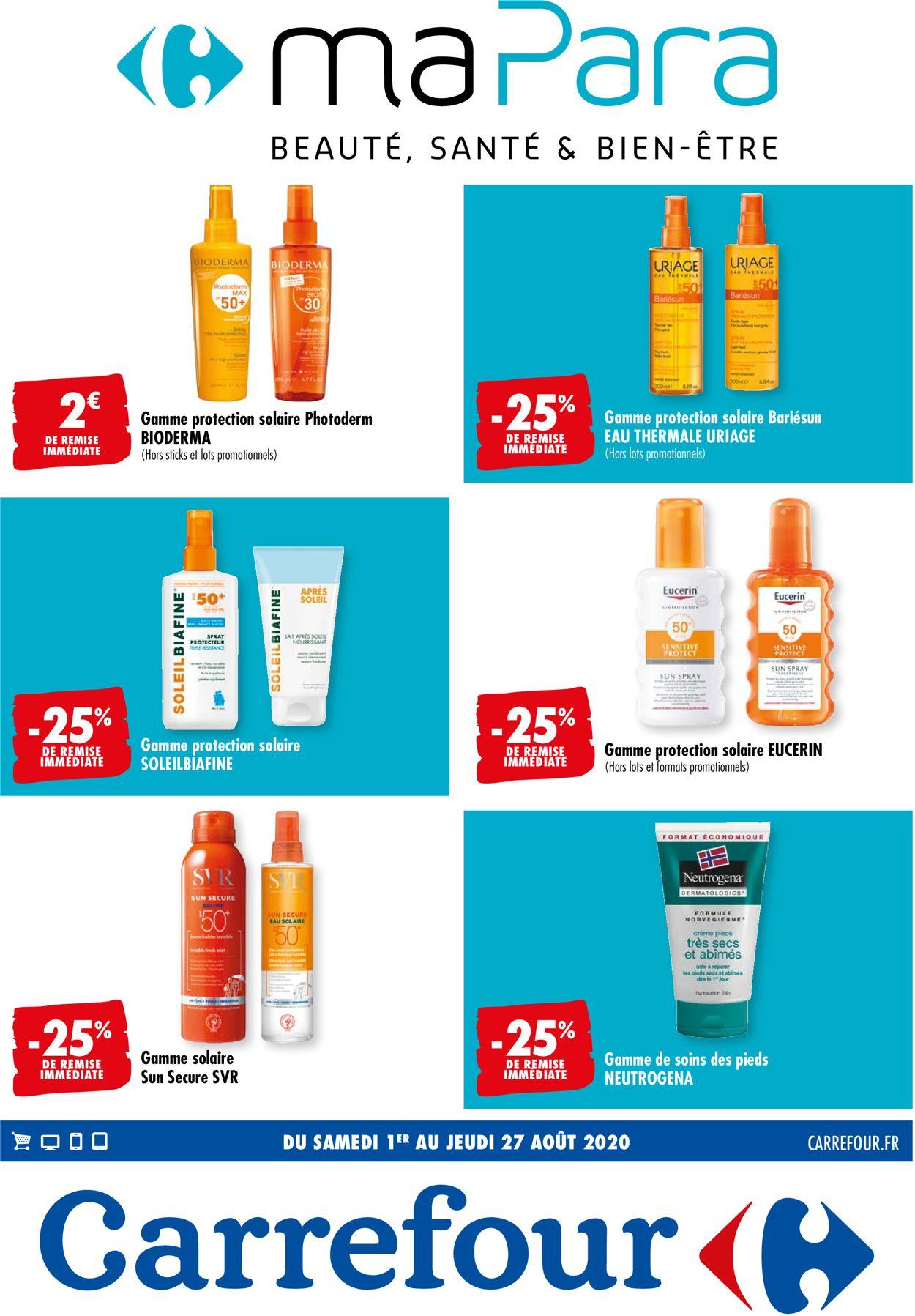 Carrefour Catalogue - 01.08-27.08.2020