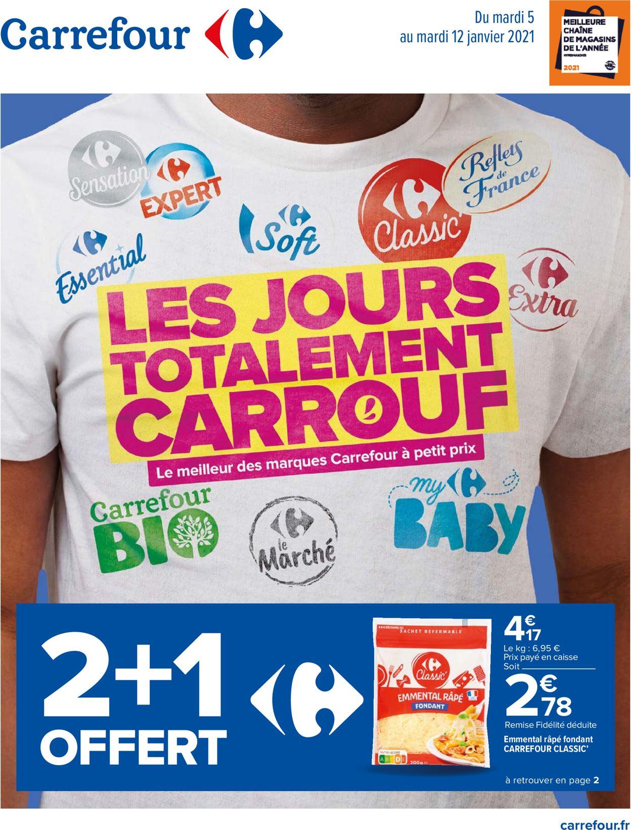 Carrefour Les Jours Totalment CARROUF Catalogue - 05.01-12.01.2021