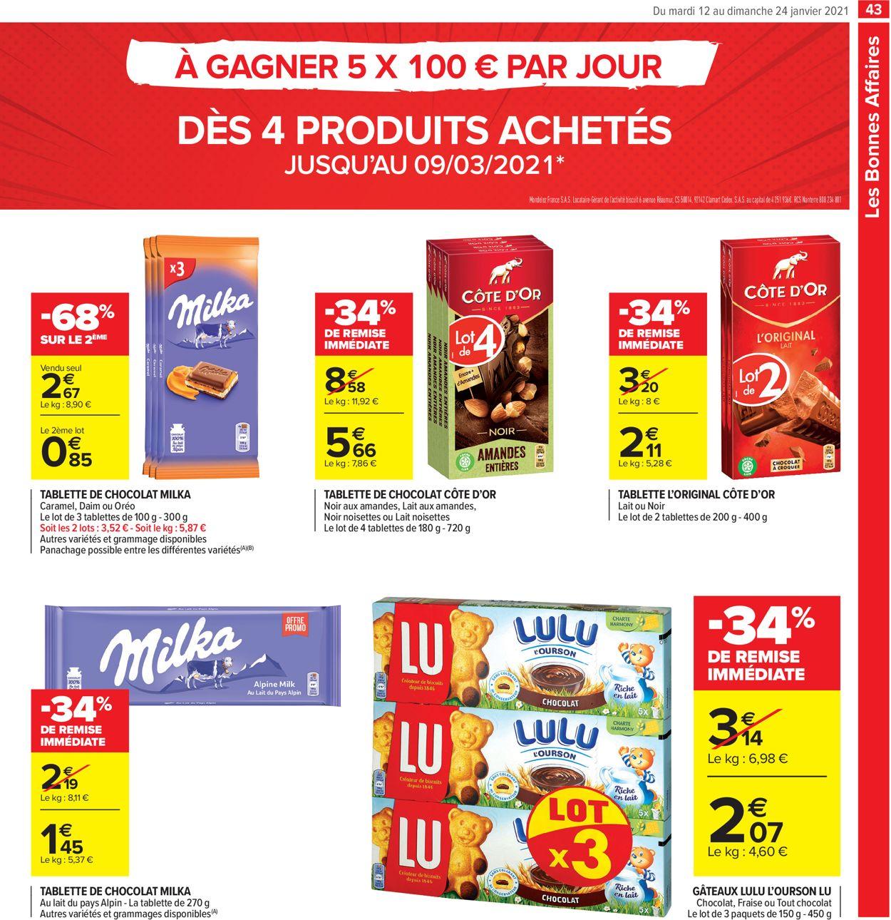 Carrefour Résolument Engagés Pour Votre Budget 2021 Catalogue - 12.01-24.01.2021 (Page 43)
