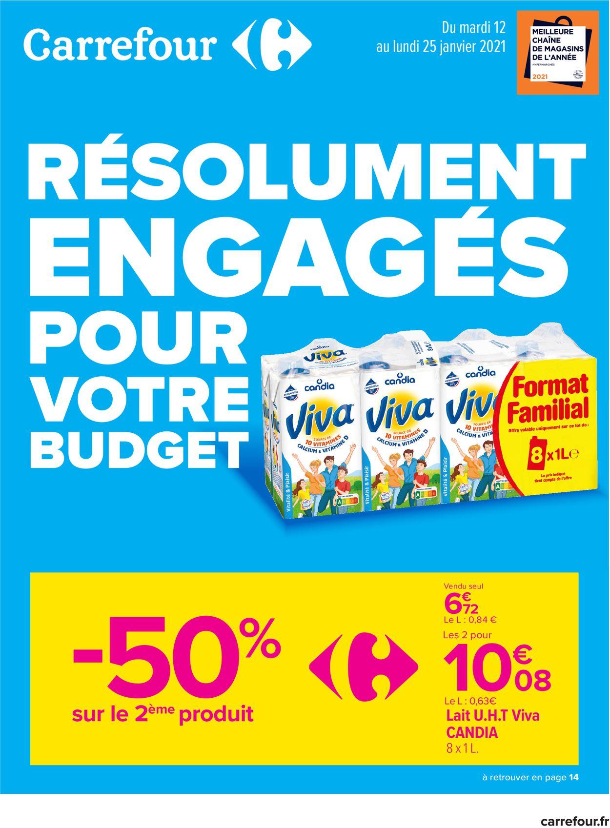 Carrefour Résolument Engagés Pour Votre Budget 2021 Catalogue - 12.01-25.01.2021