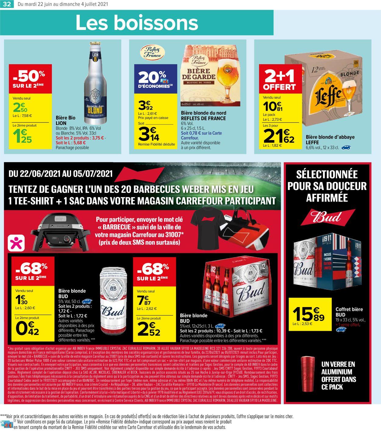 Carrefour Catalogue - 22.06-04.07.2021 (Page 32)