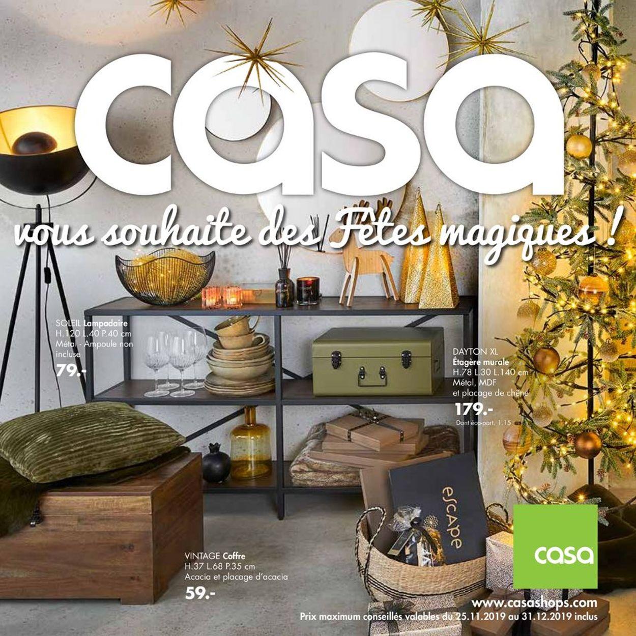 Casa catalogue de Noël 2019 Catalogue - 25.11-31.12.2019