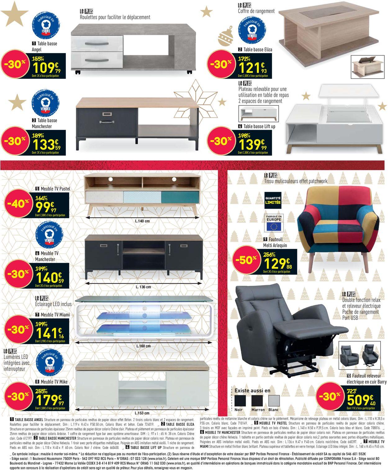 Conforama Noel 2020 Catalogue - 01.12-22.12.2020 (Page 6)
