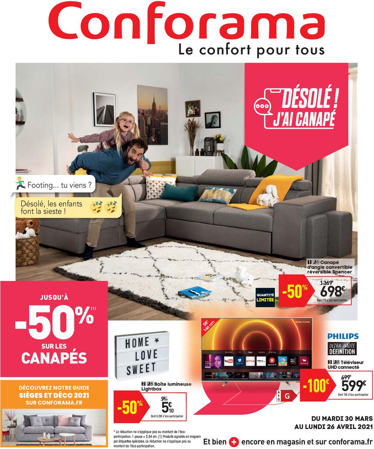 Conforama Catalogue - 30.03-26.04.2021