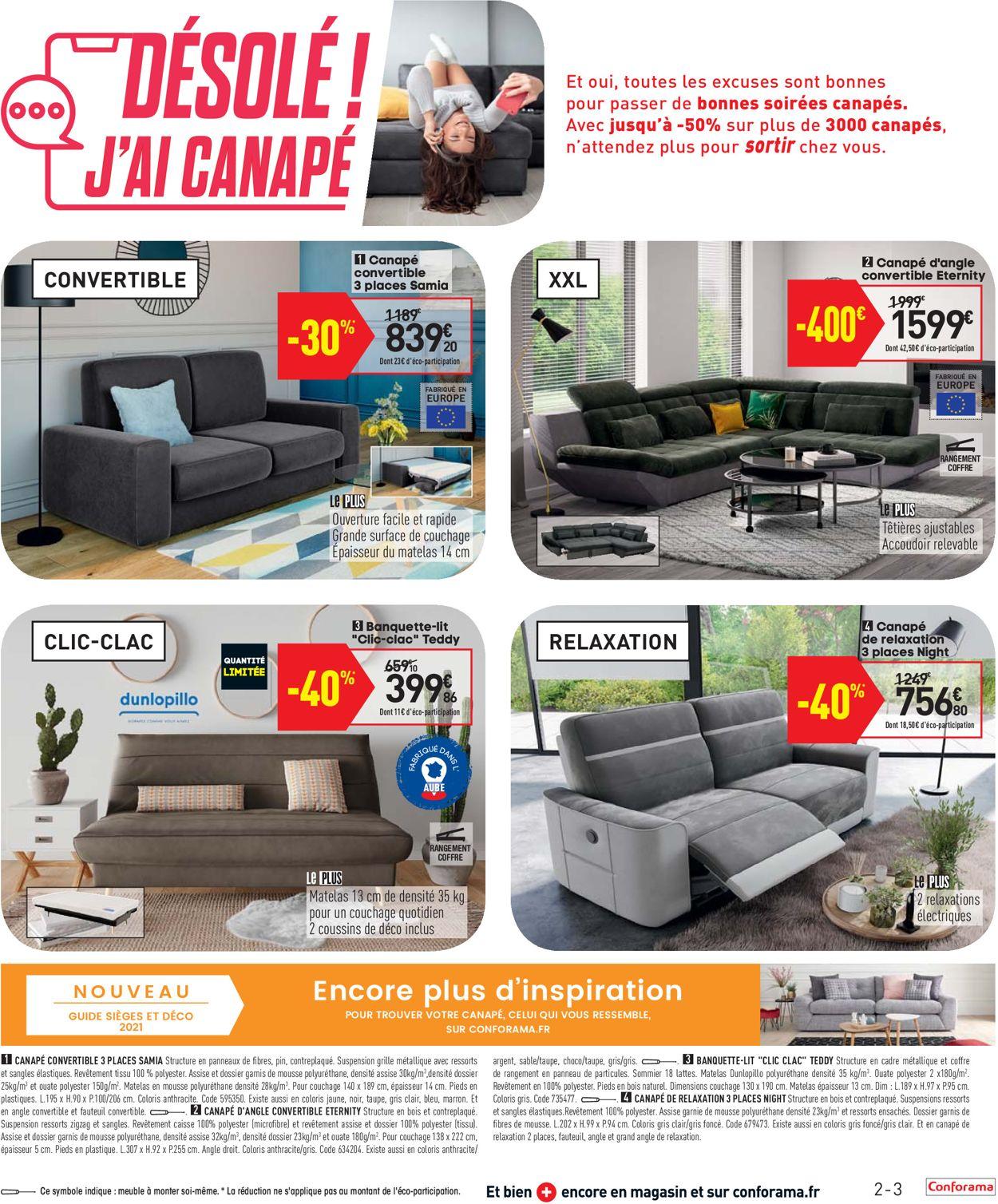 Conforama Catalogue - 30.03-26.04.2021 (Page 3)