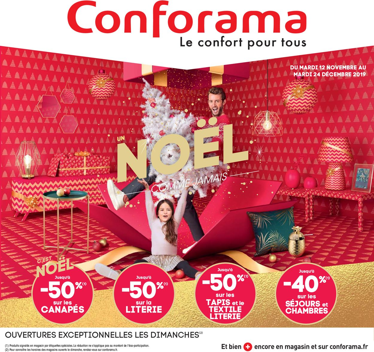 Conforama catalogue de Noël 2019 Catalogue - 12.11-24.12.2019