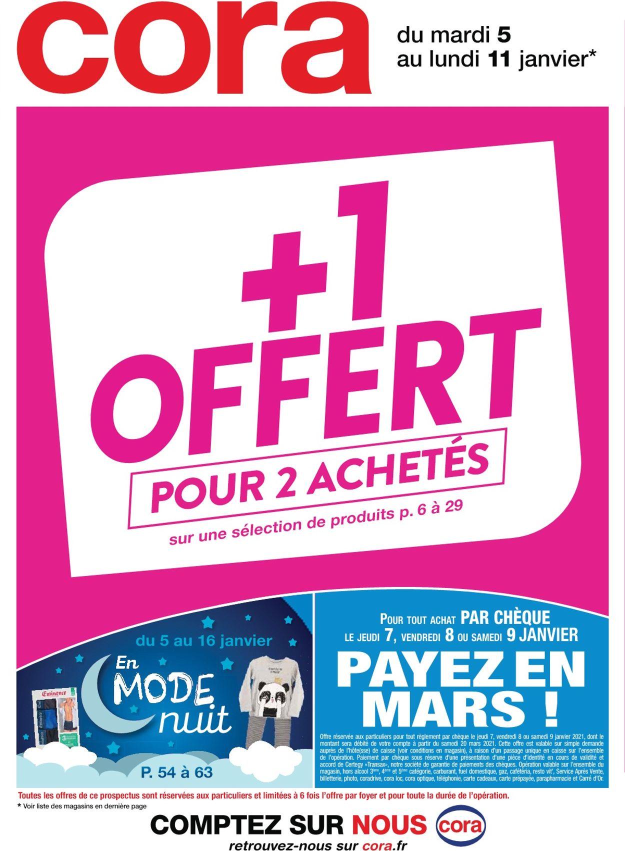 Cora +1 Offert Pour 2 Achetés 2021 Catalogue - 05.01-11.01.2021