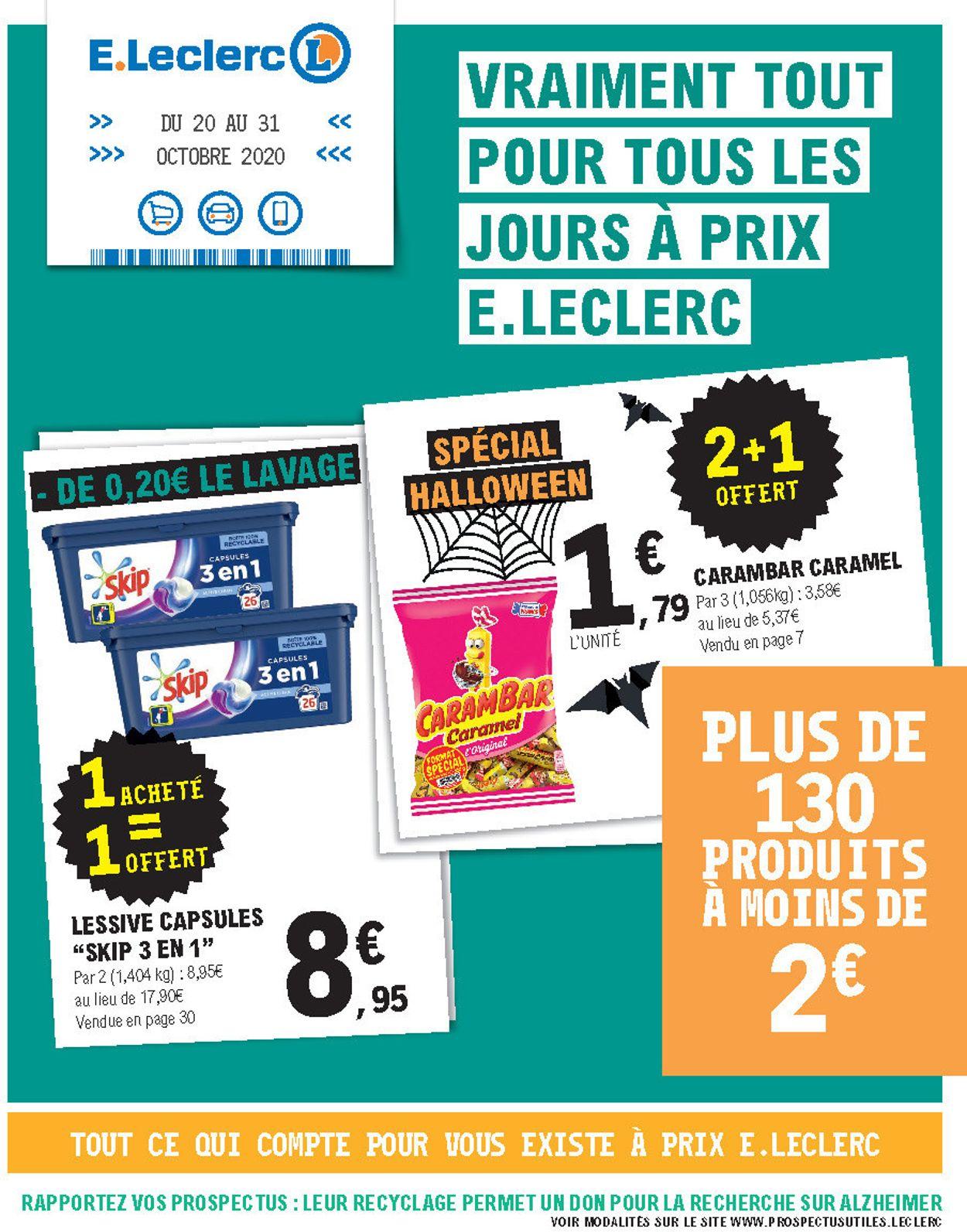 E.leclerc Catalogue - 20.10-31.10.2020