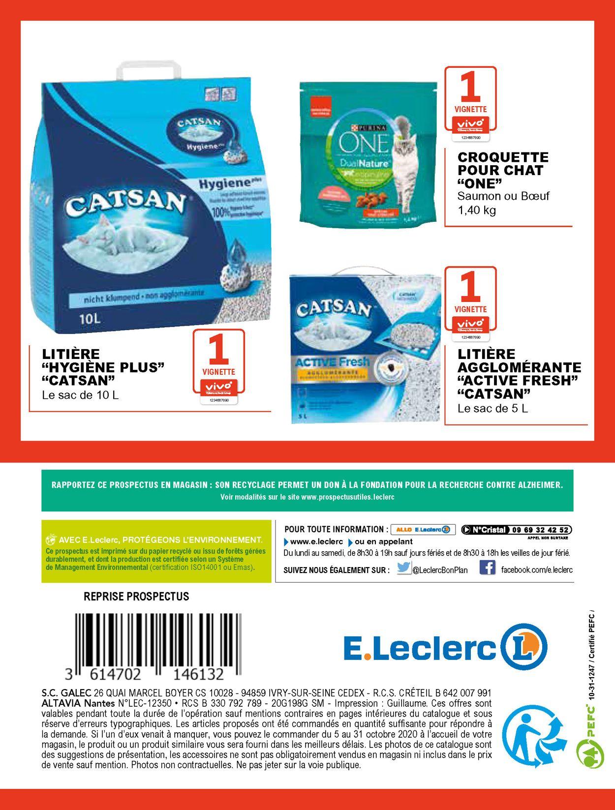 E.leclerc Catalogue - 05.10-31.10.2020 (Page 20)