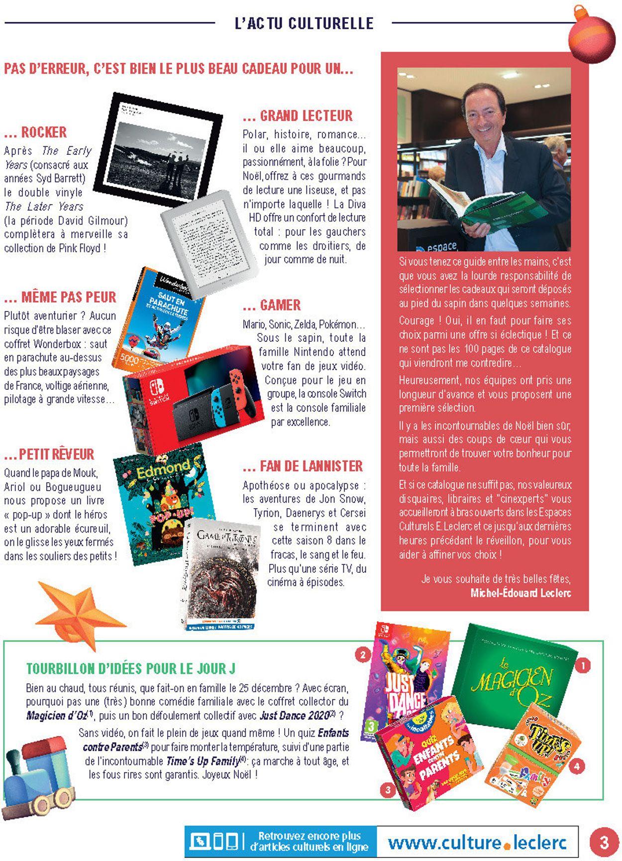 E.leclerc catalogue de Noël 2019 Catalogue - 19.11-14.12.2019 (Page 3)
