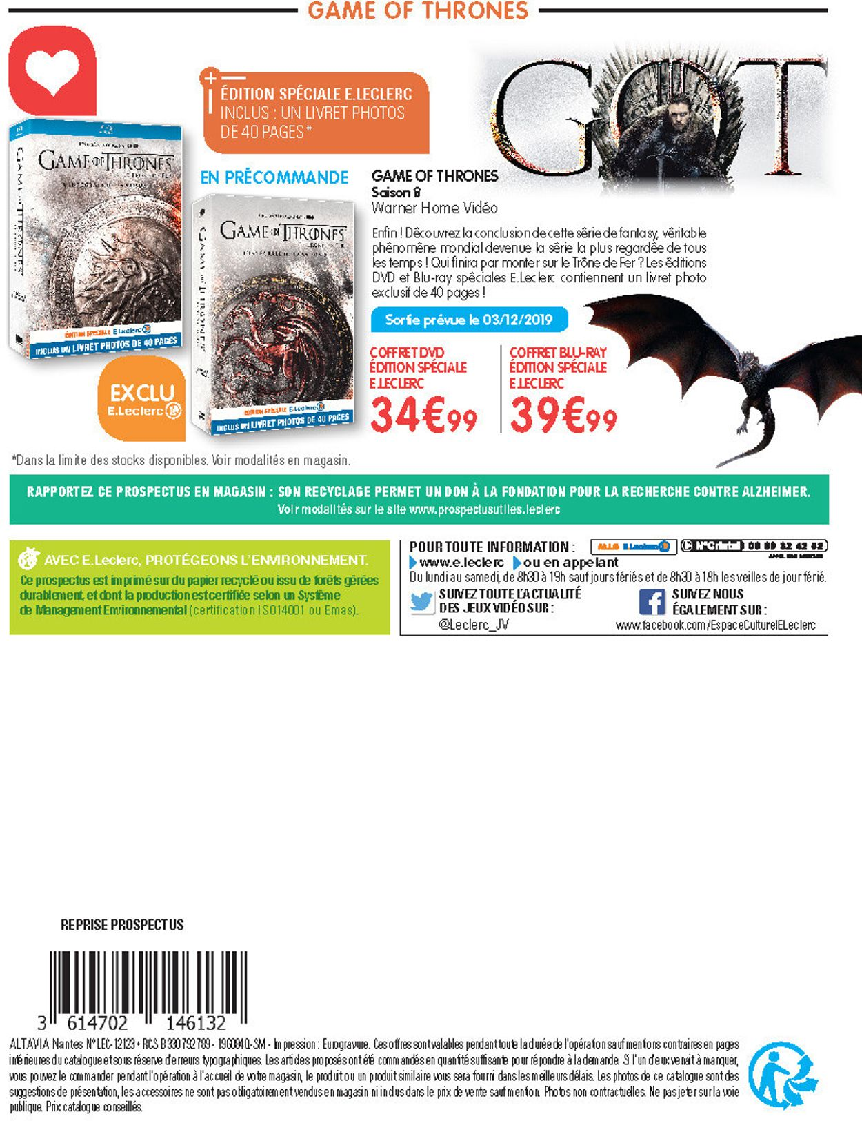 E.leclerc catalogue de Noël 2019 Catalogue - 19.11-14.12.2019 (Page 108)