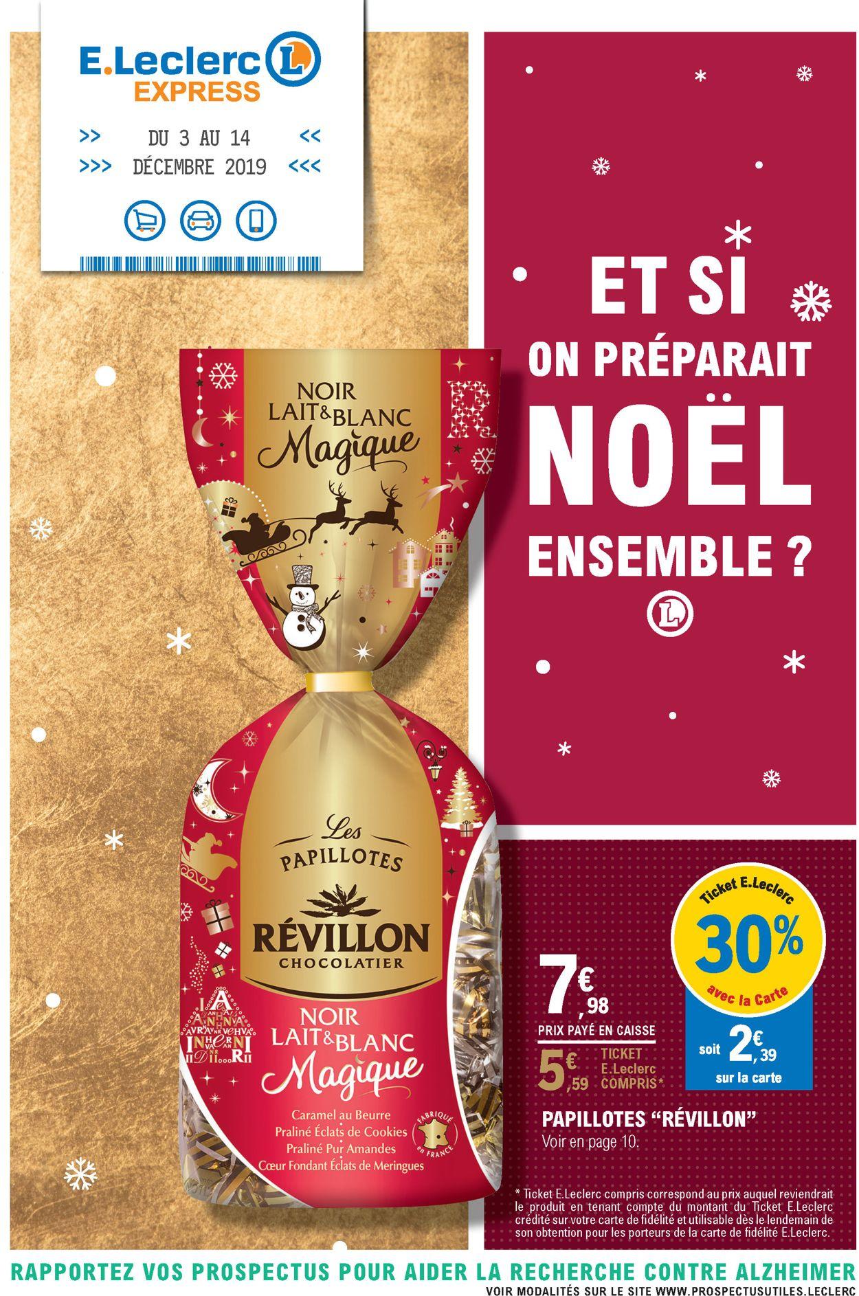 E.leclerc catalogue de Noël 2019 Catalogue - 03.12-14.12.2019