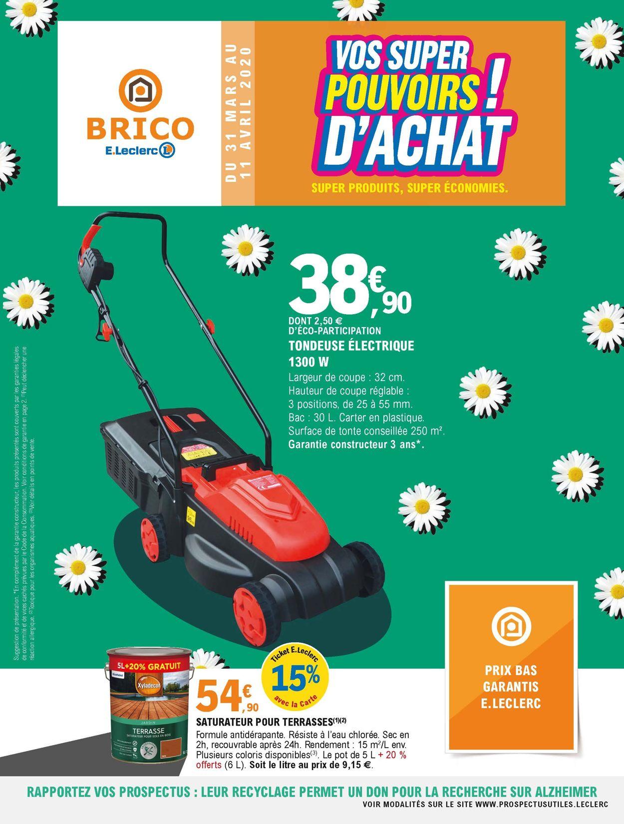 E.leclerc Catalogue - 31.03-11.04.2020