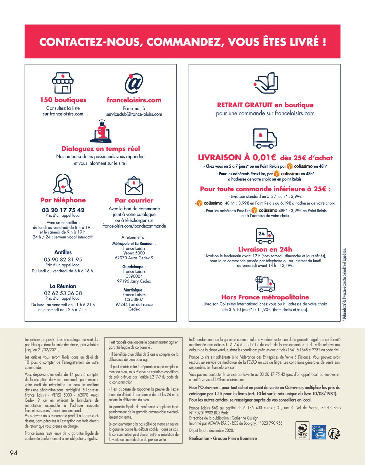 France Loisirs Catalogue - 21.12-03.02.2021 (Page 94)