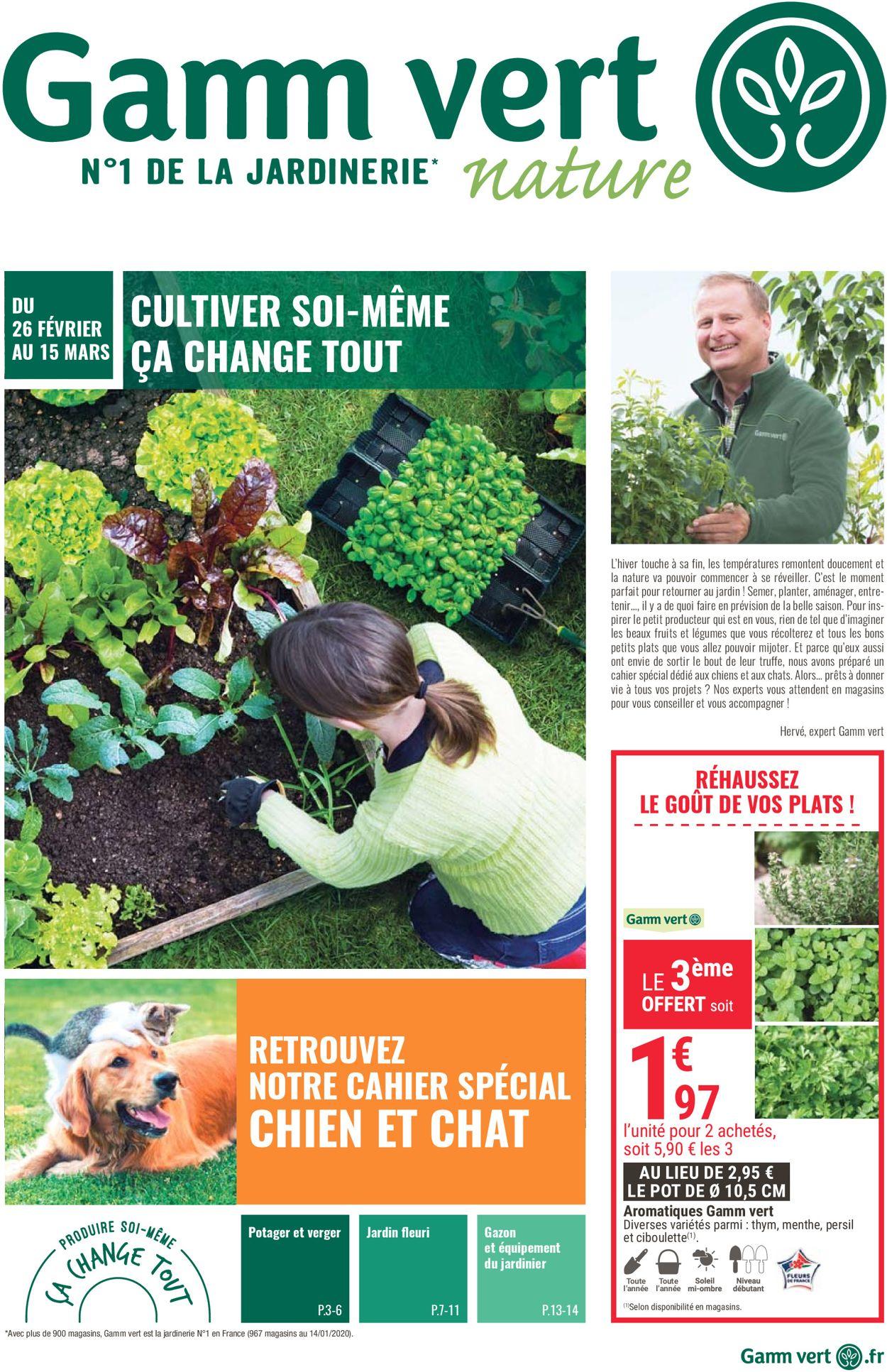Gamm vert Catalogue - 26.02-15.03.2020