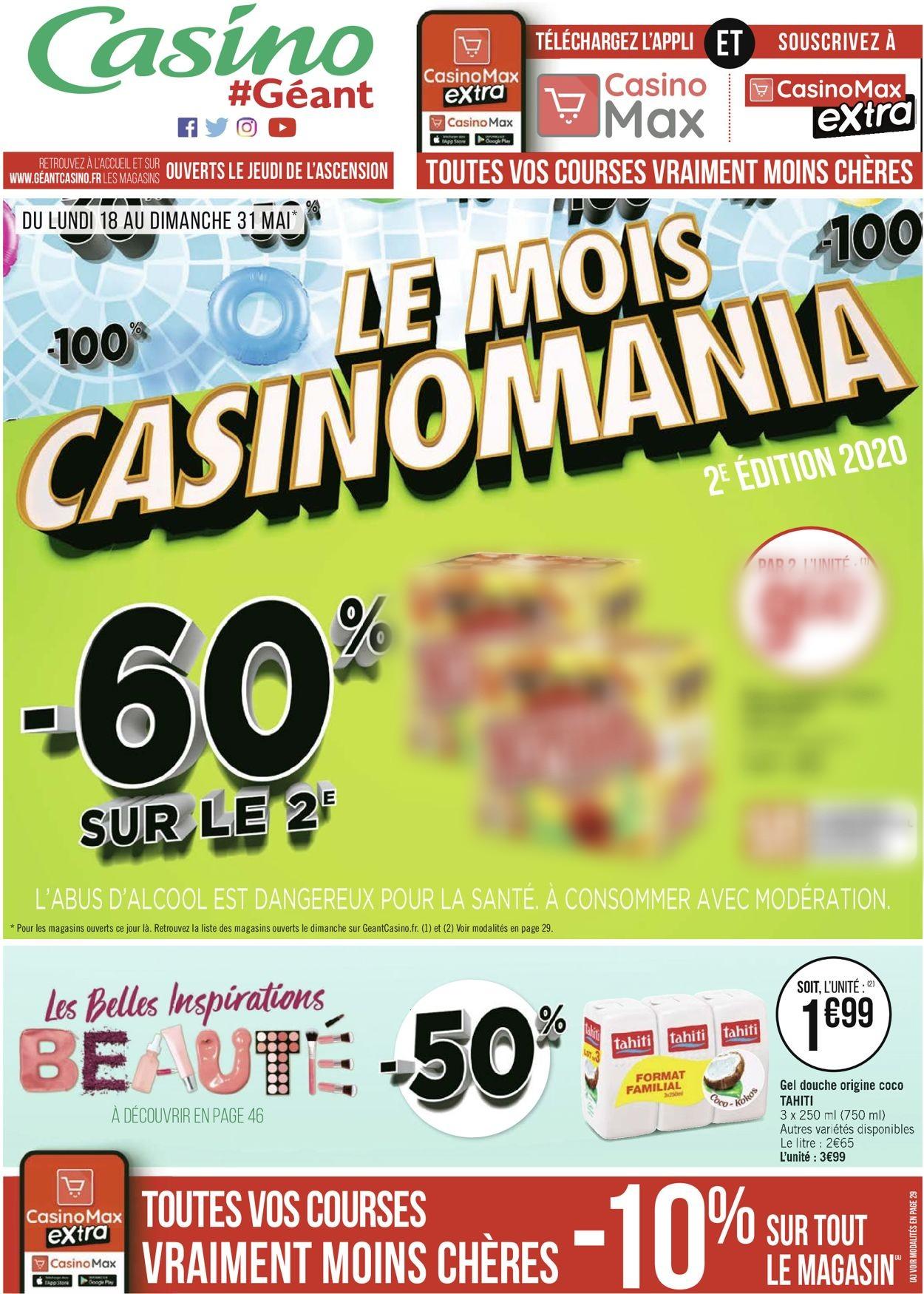 Géant Casino Catalogue - 18.05-31.05.2020