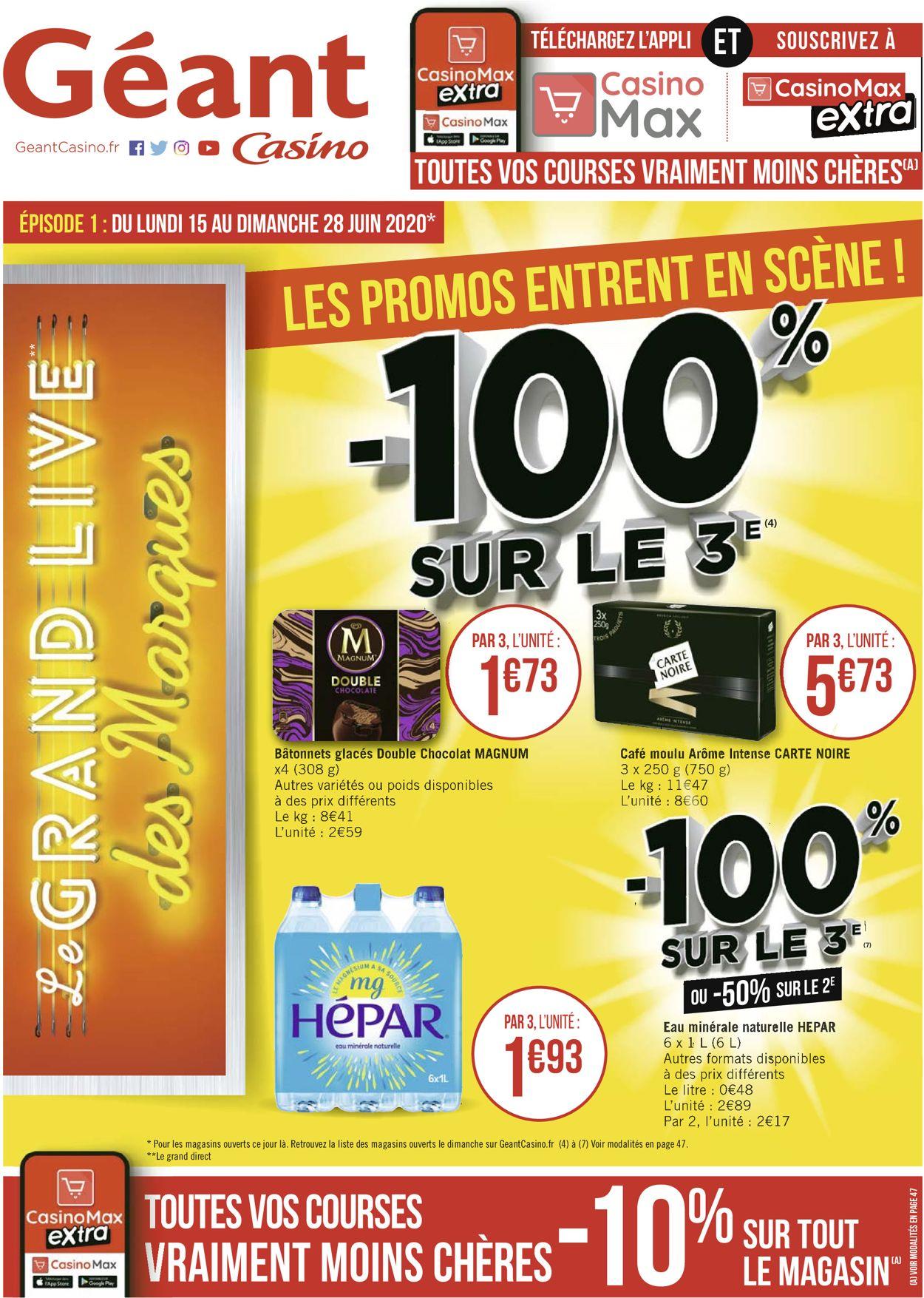 Géant Casino Catalogue - 15.06-28.06.2020