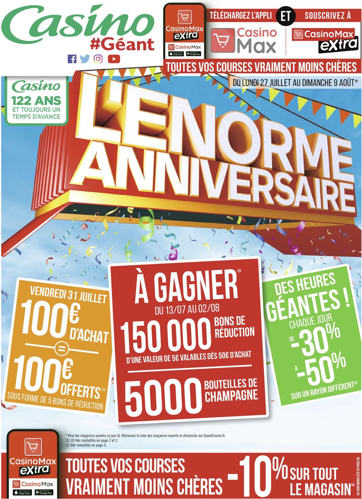 Géant Casino Catalogue - 27.07-09.08.2020