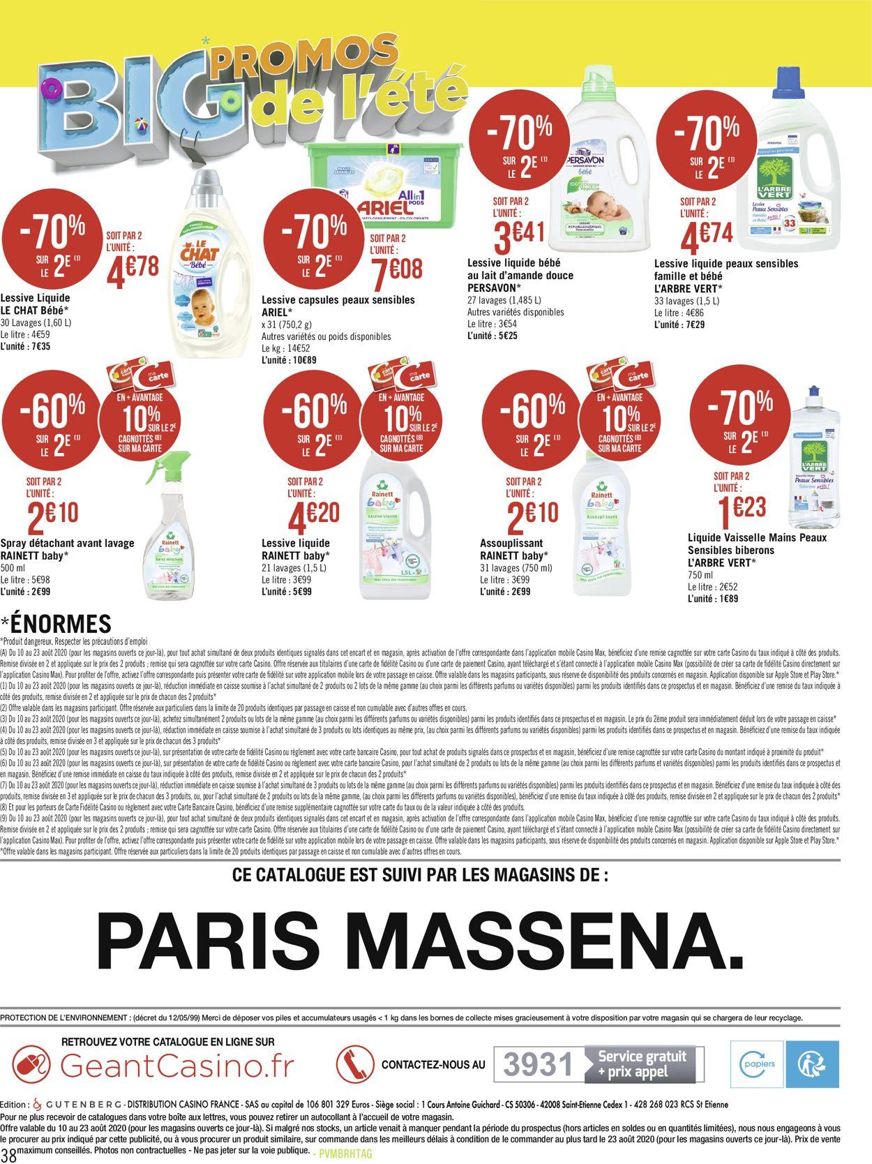 Géant Casino Catalogue - 10.08-23.08.2020 (Page 38)