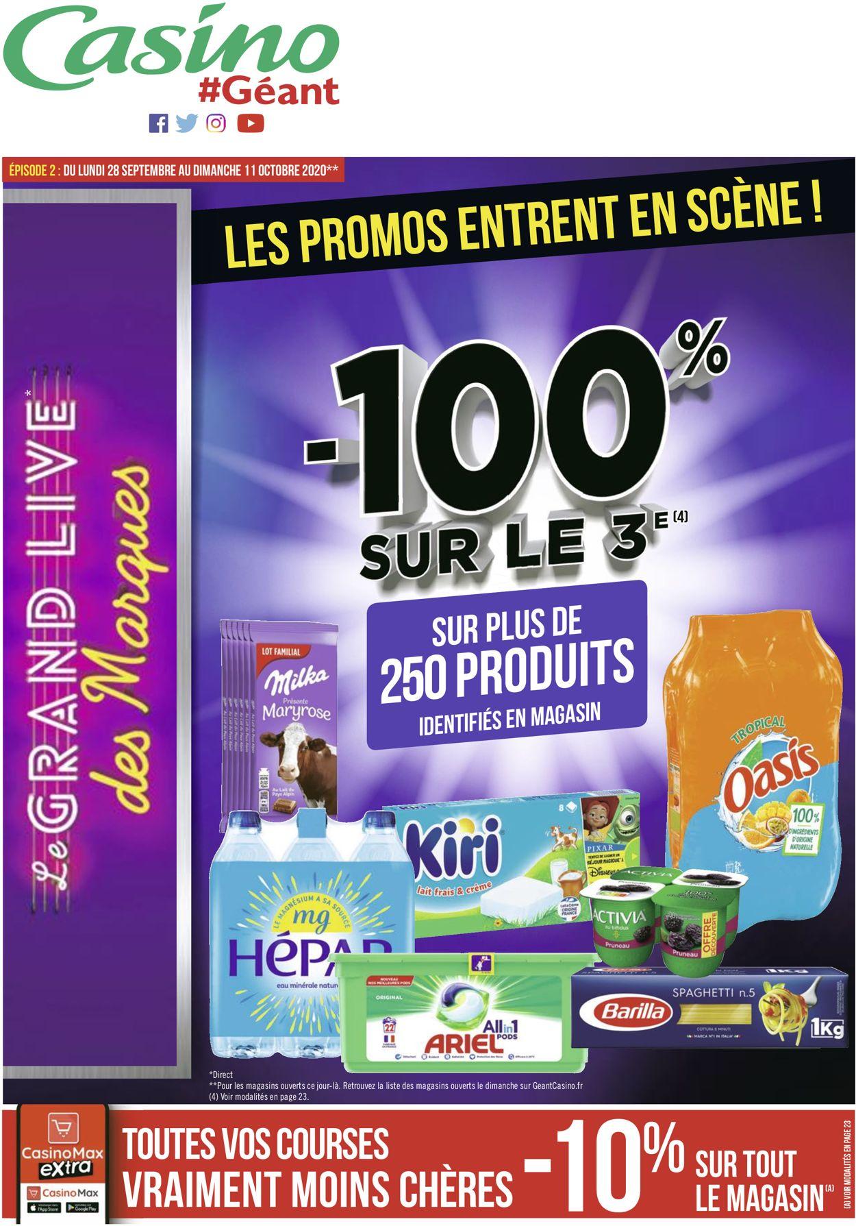 Géant Casino Catalogue - 28.09-11.10.2020