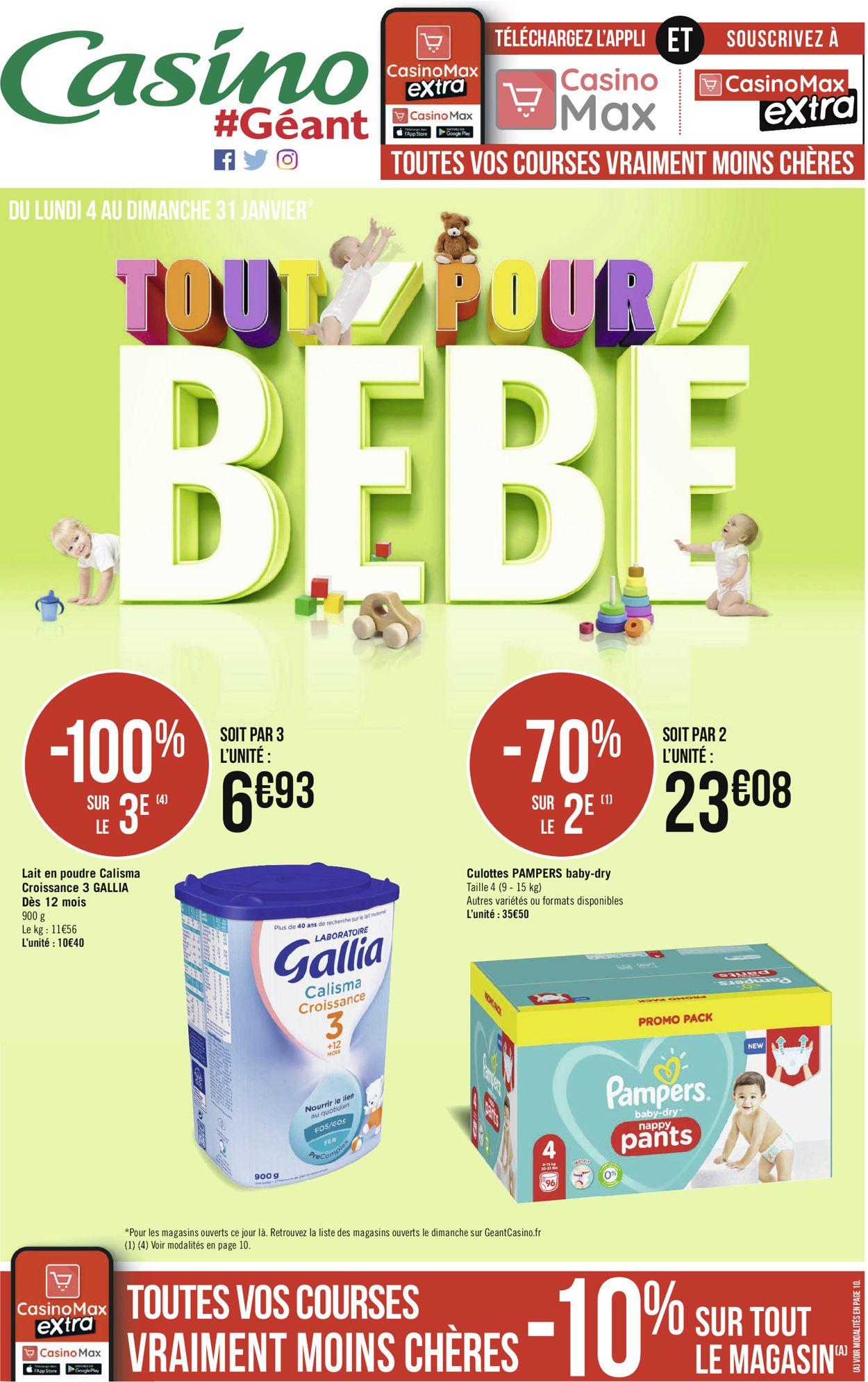 Géant Casino Tout pour bébé 2021 Catalogue - 04.01-31.01.2021