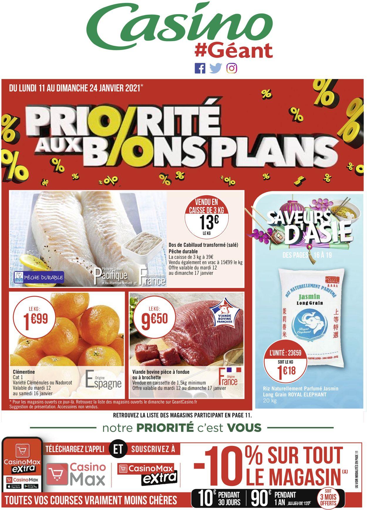 Géant Casino Priorité aux promos 2021 Catalogue - 11.01-24.01.2021 (Page 28)