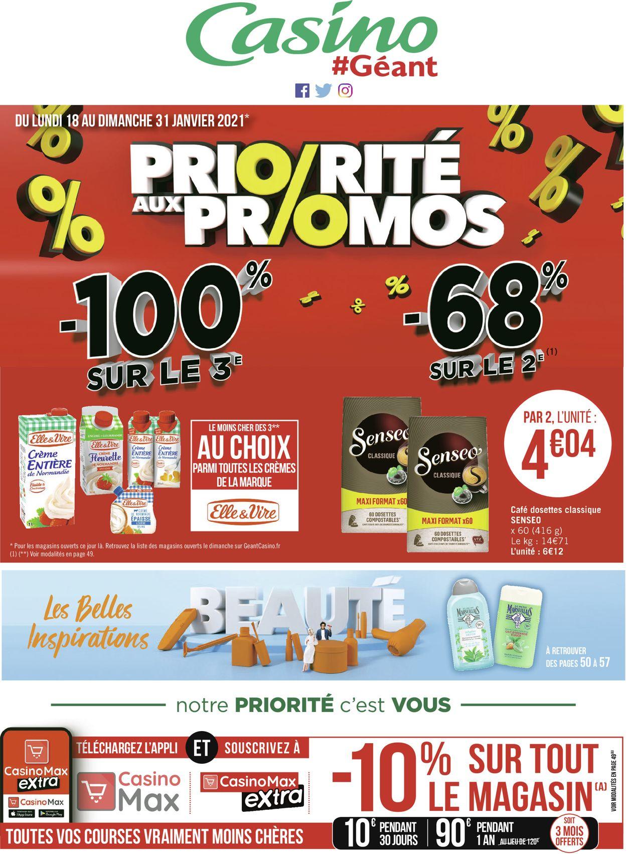 Géant Casino Priorité aux Promos 2021 Catalogue - 18.01-31.01.2021