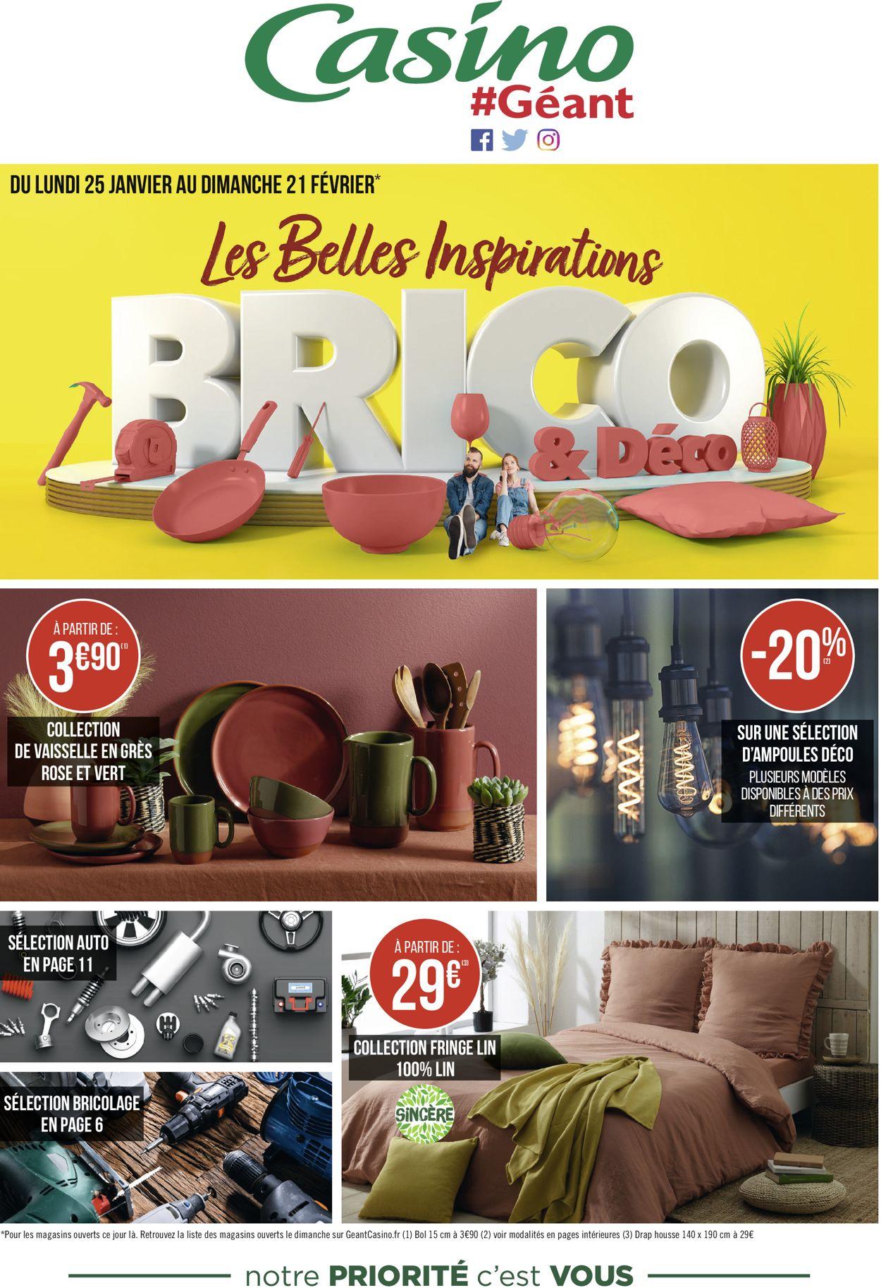 Géant Casino Inspirations Brico & Déco 2021 Catalogue - 25.01-21.02.2021