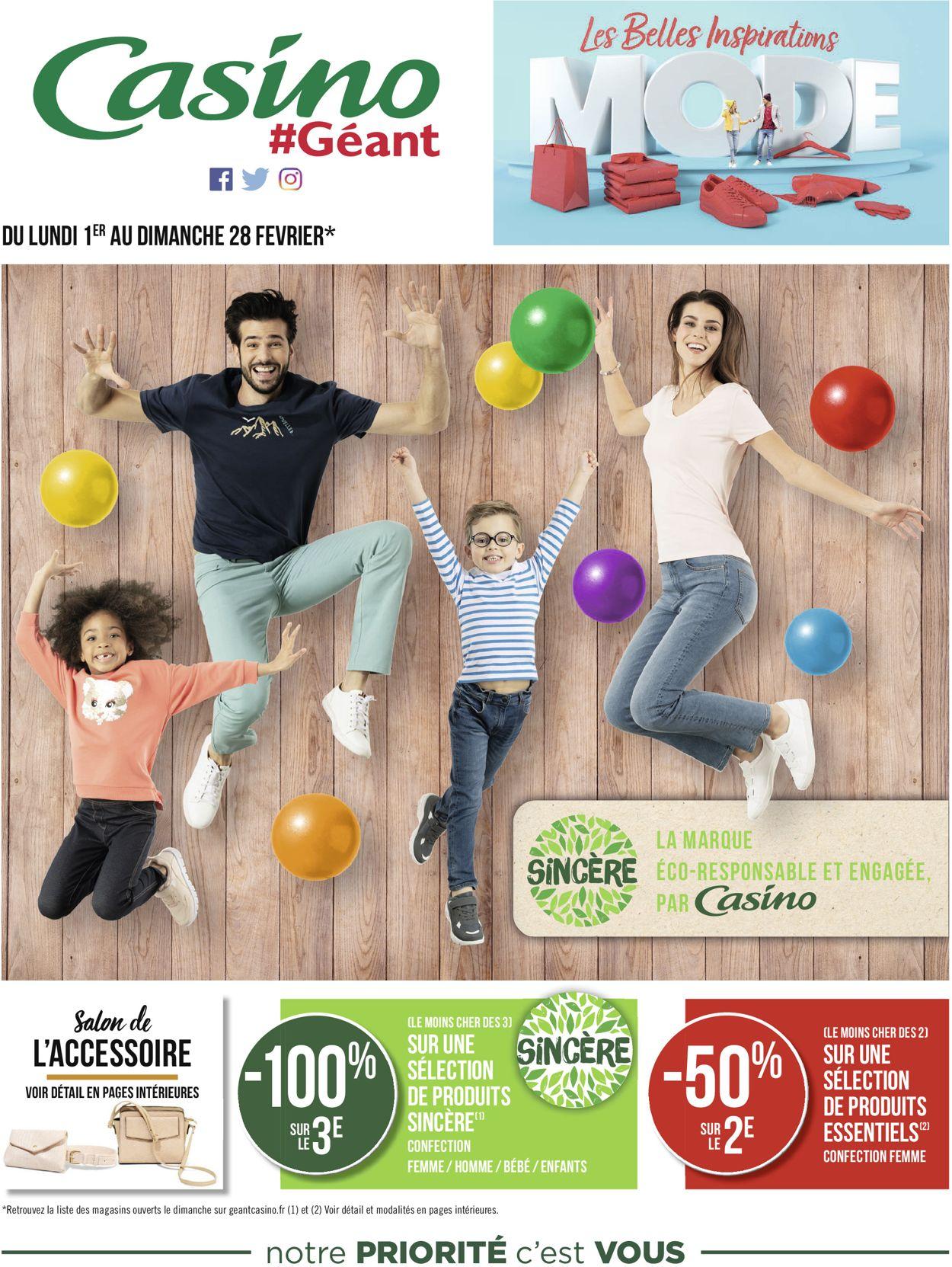 Géant Casino Mode 2021 Catalogue - 01.02-28.02.2021