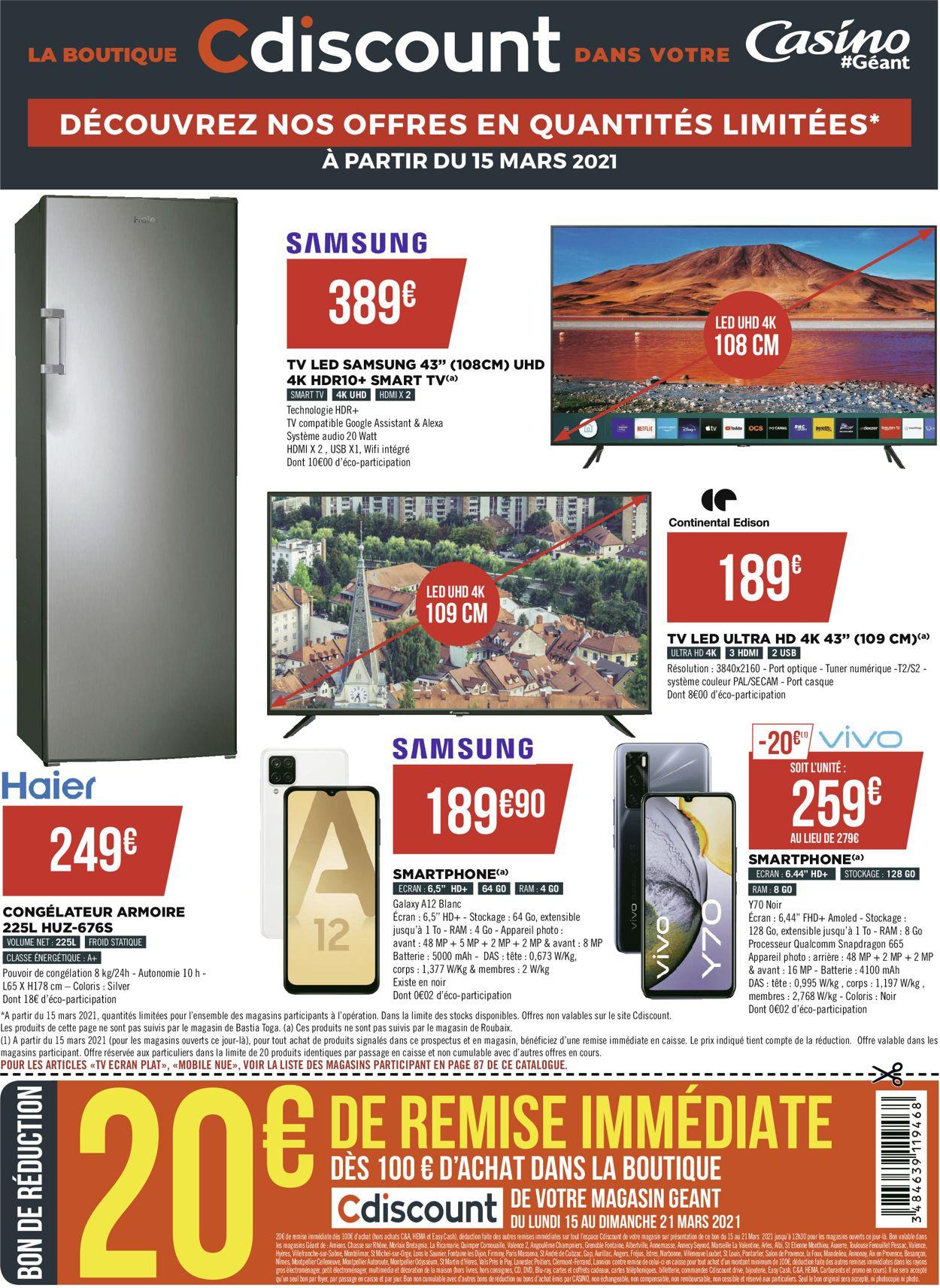 Géant Casino Catalogue - 15.03-28.03.2021 (Page 96)
